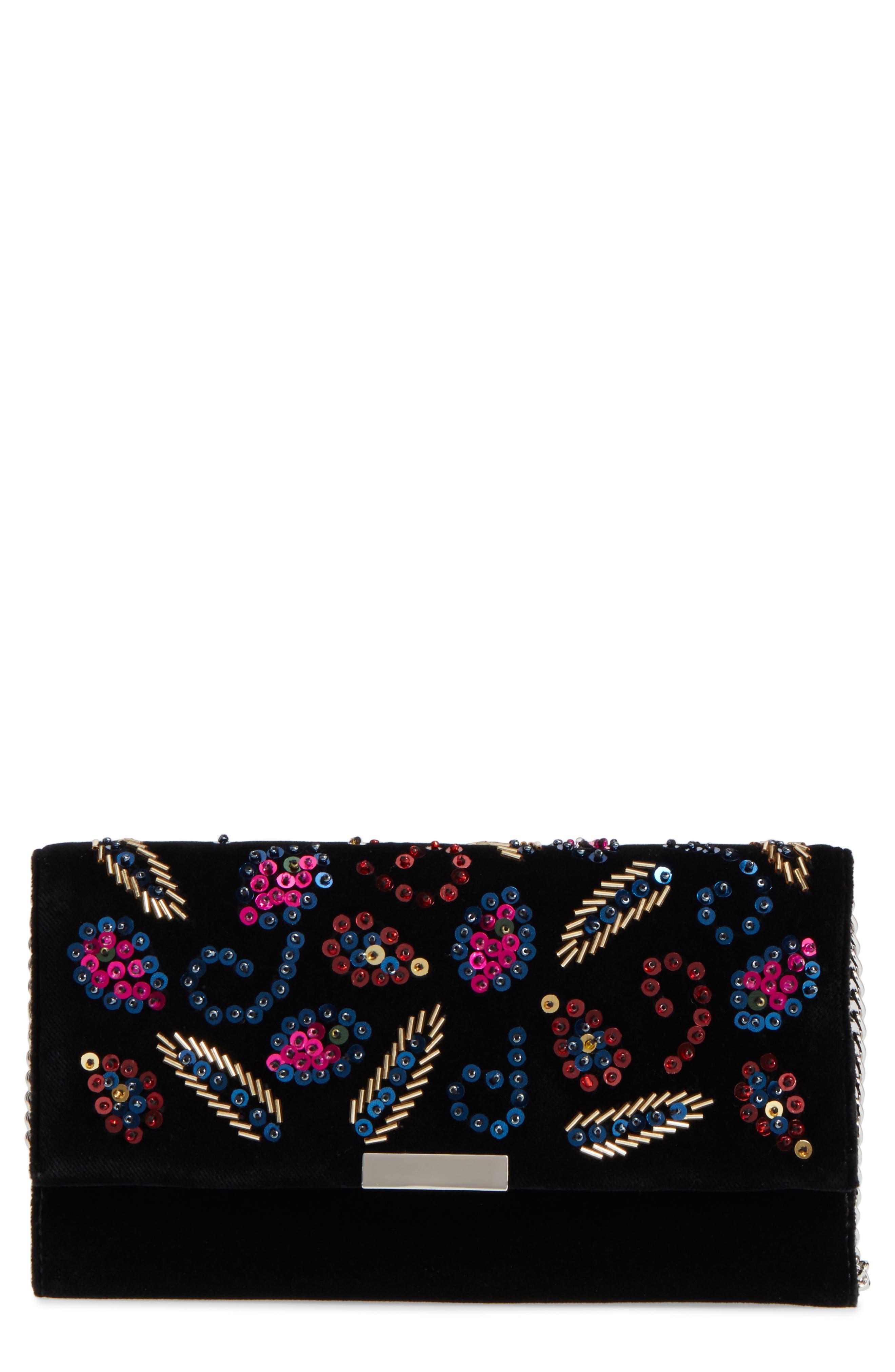 Loeffler Randall Sequin Velvet Clutch