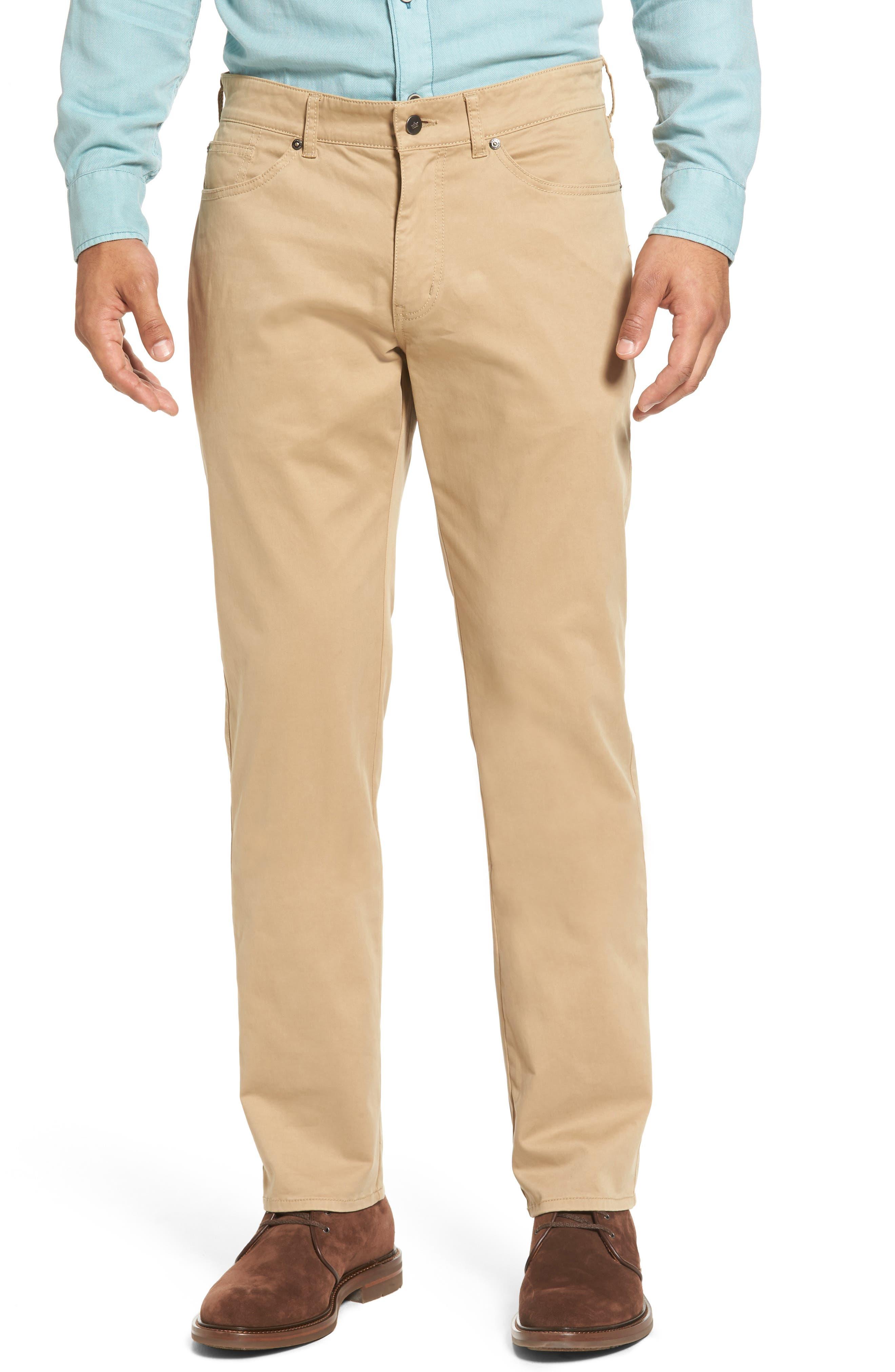 Peter Millar Stretch Sateen Five-Pocket Pants (Regular & Big)