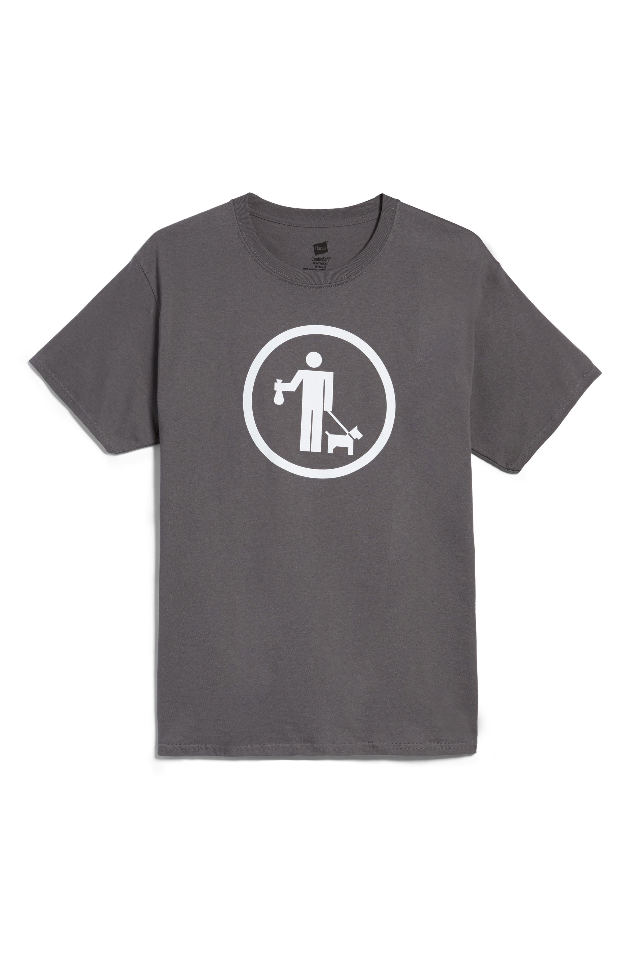 NYC Parks Walking Dog T-Shirt