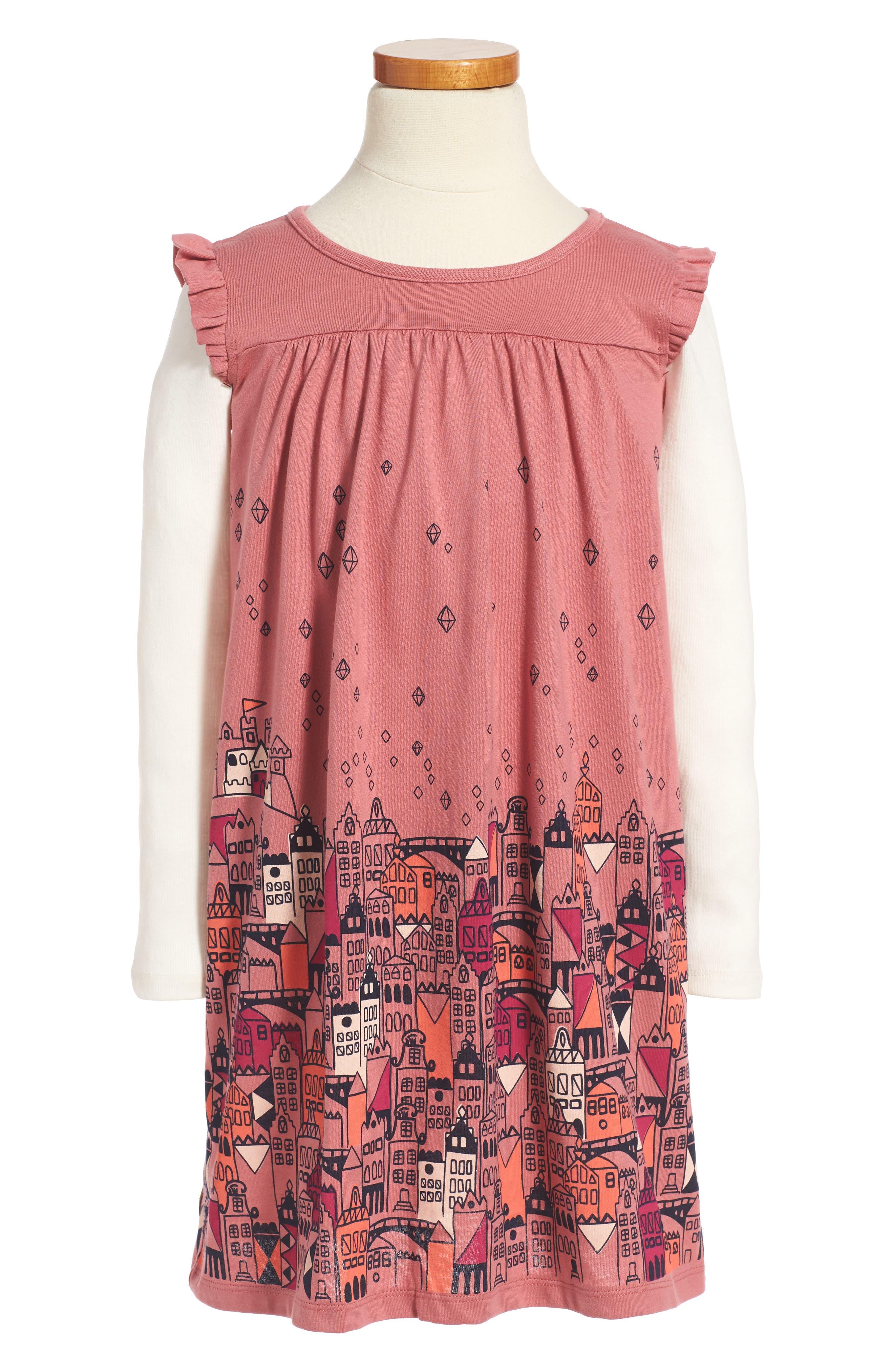 Tea Collection Edinburgh Mighty - Double Decker Dress (Toddler Girls, Little Girls & Big Girls)