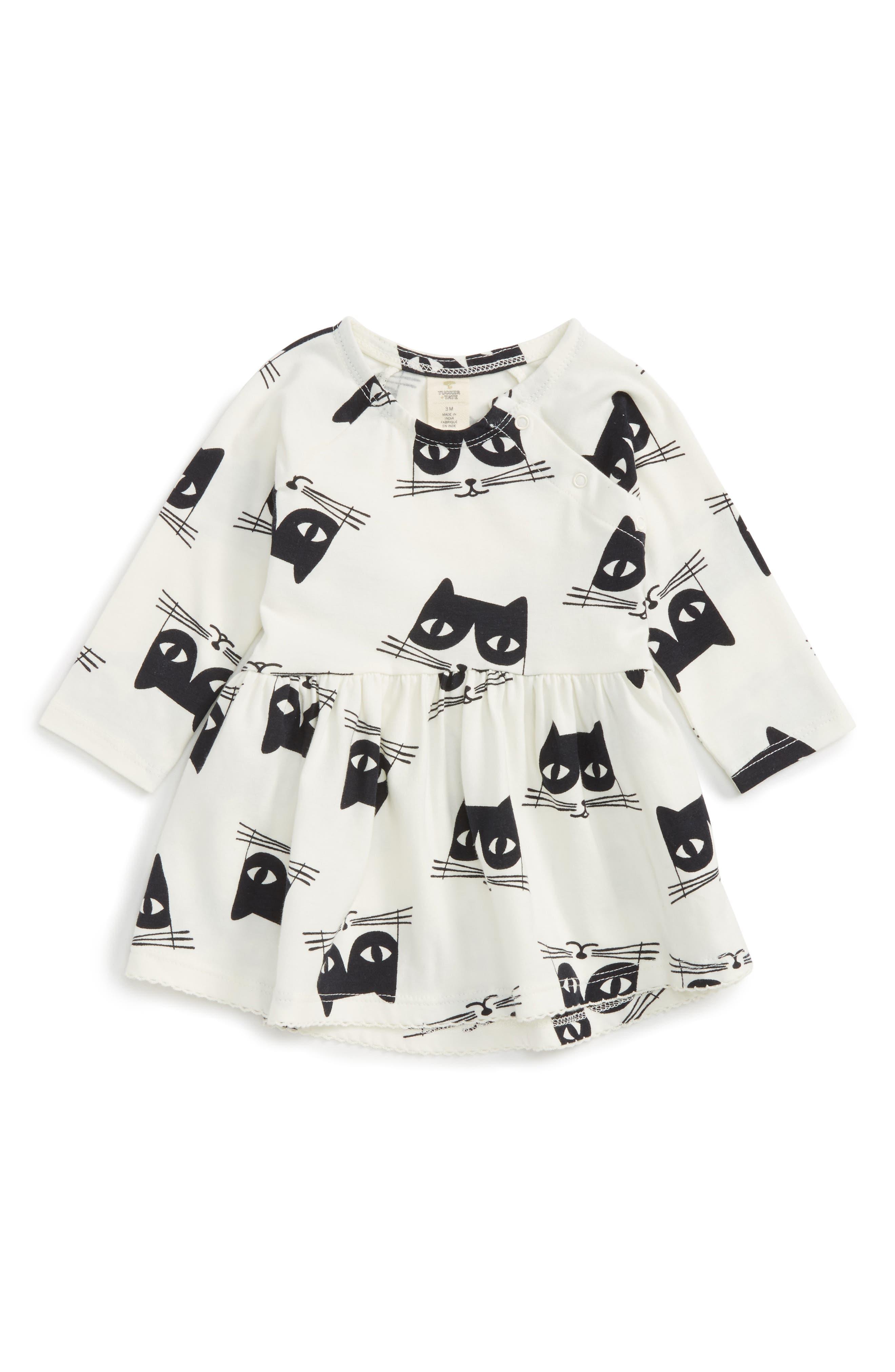 Tucker + Tate Cat Print Dress (Baby Girls)