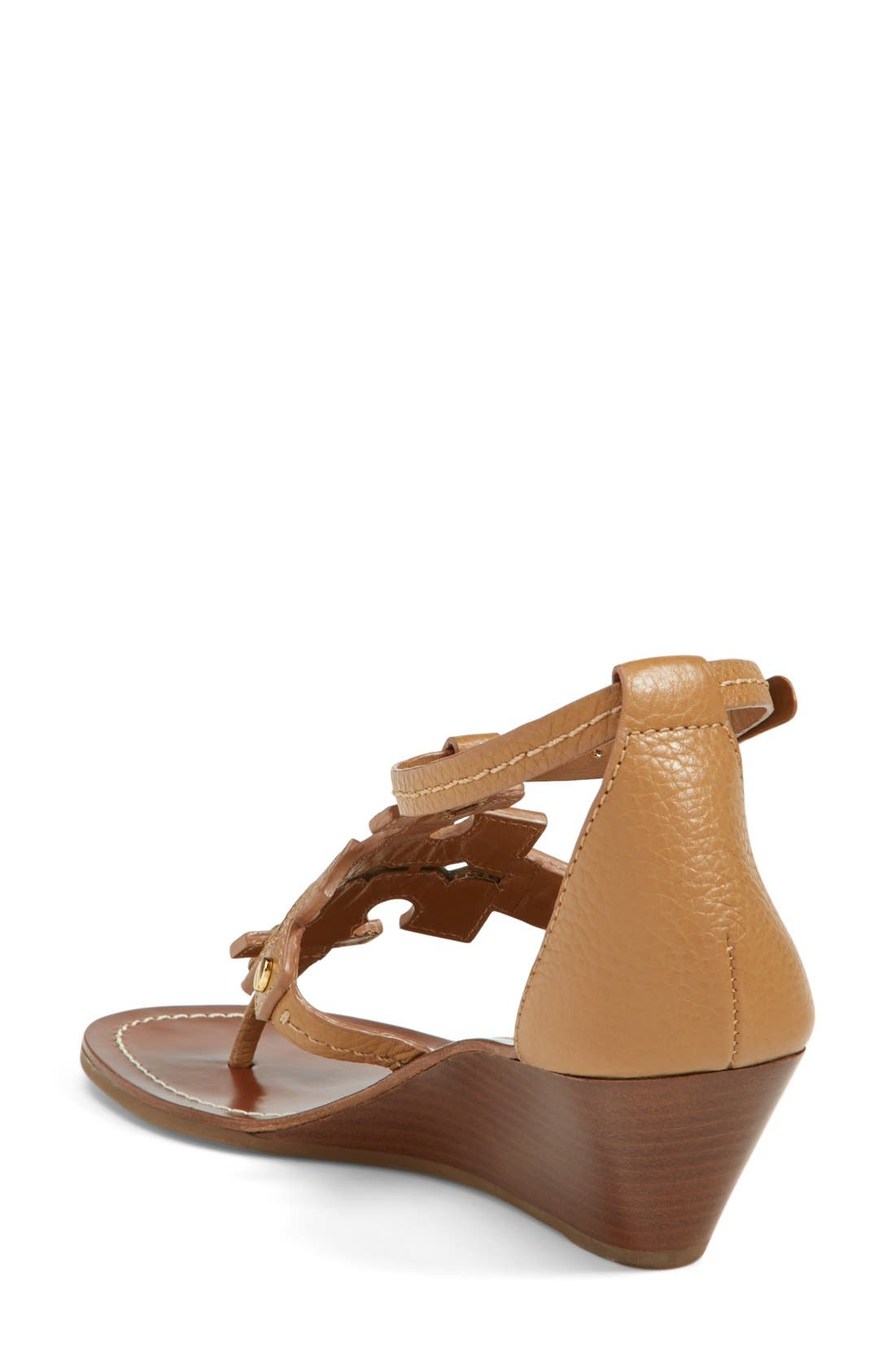 Alternate Image 2  - Tory Burch 'Chandler' Wedge Leather Sandal (Women)