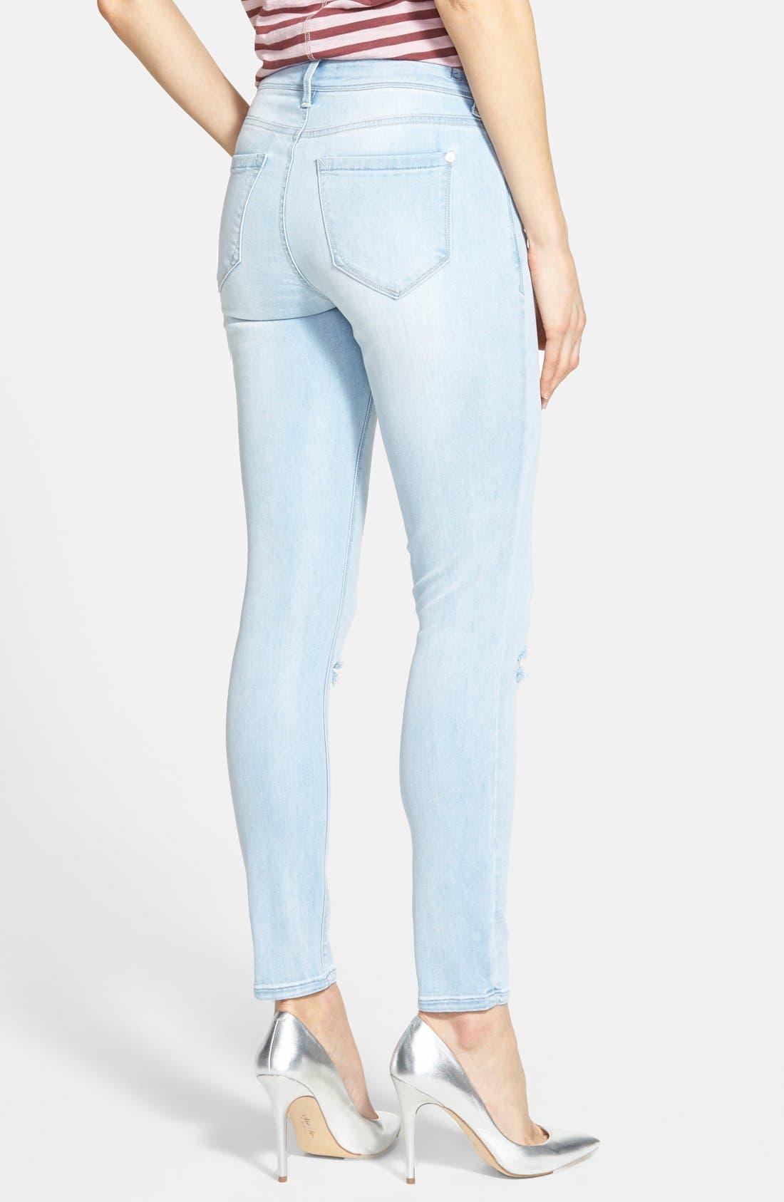 Alternate Image 2  - kensie 'Ankle Biter' Destroyed Skinny Jeans (Like a Rolling Stone)