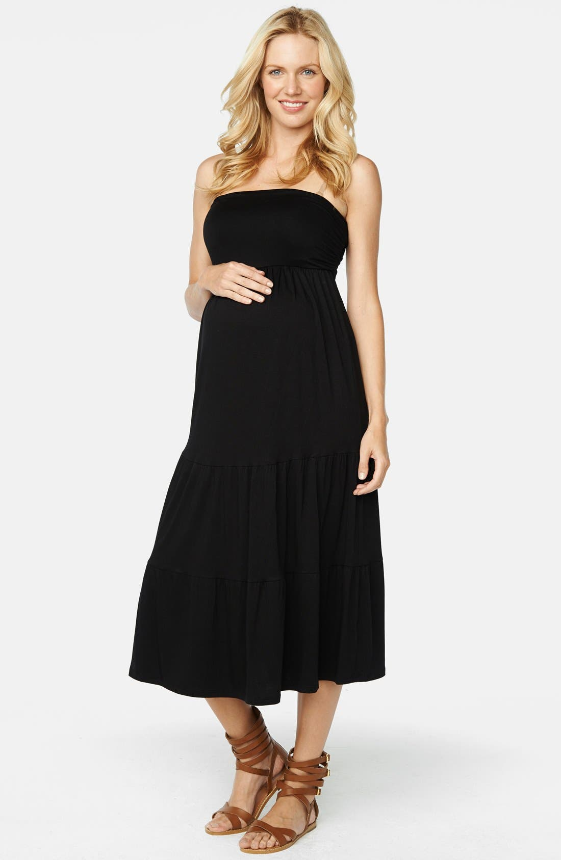 Main Image - Maternal America Convertible Strapless Maternity Dress