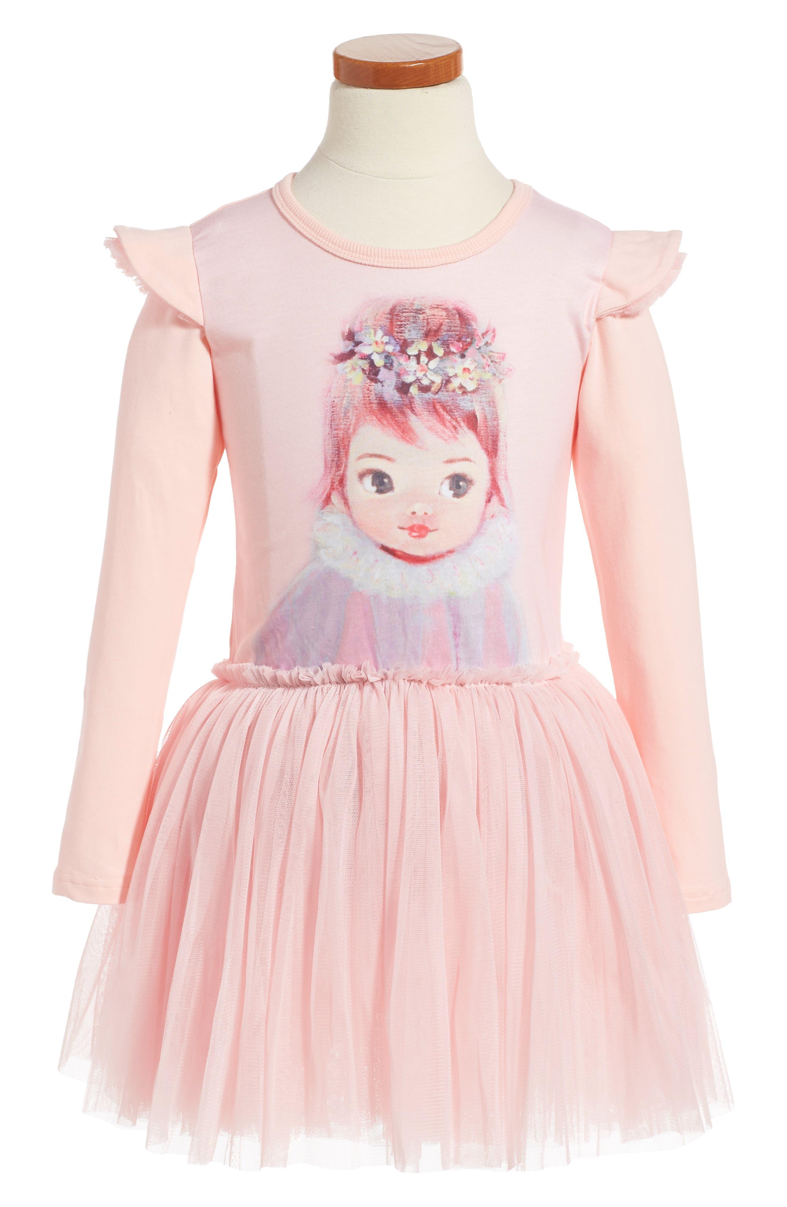 Rock Your Baby Harlequin Circus Dress (Toddler Girls & Little Girls)