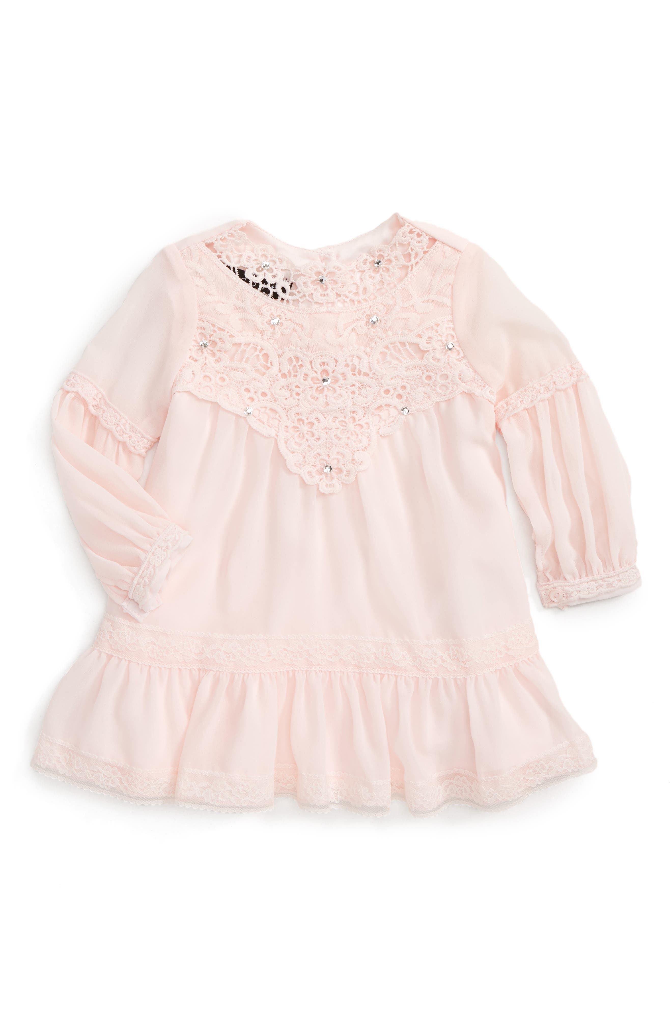 Biscotti Lace Yoke Dress (Baby Girls)