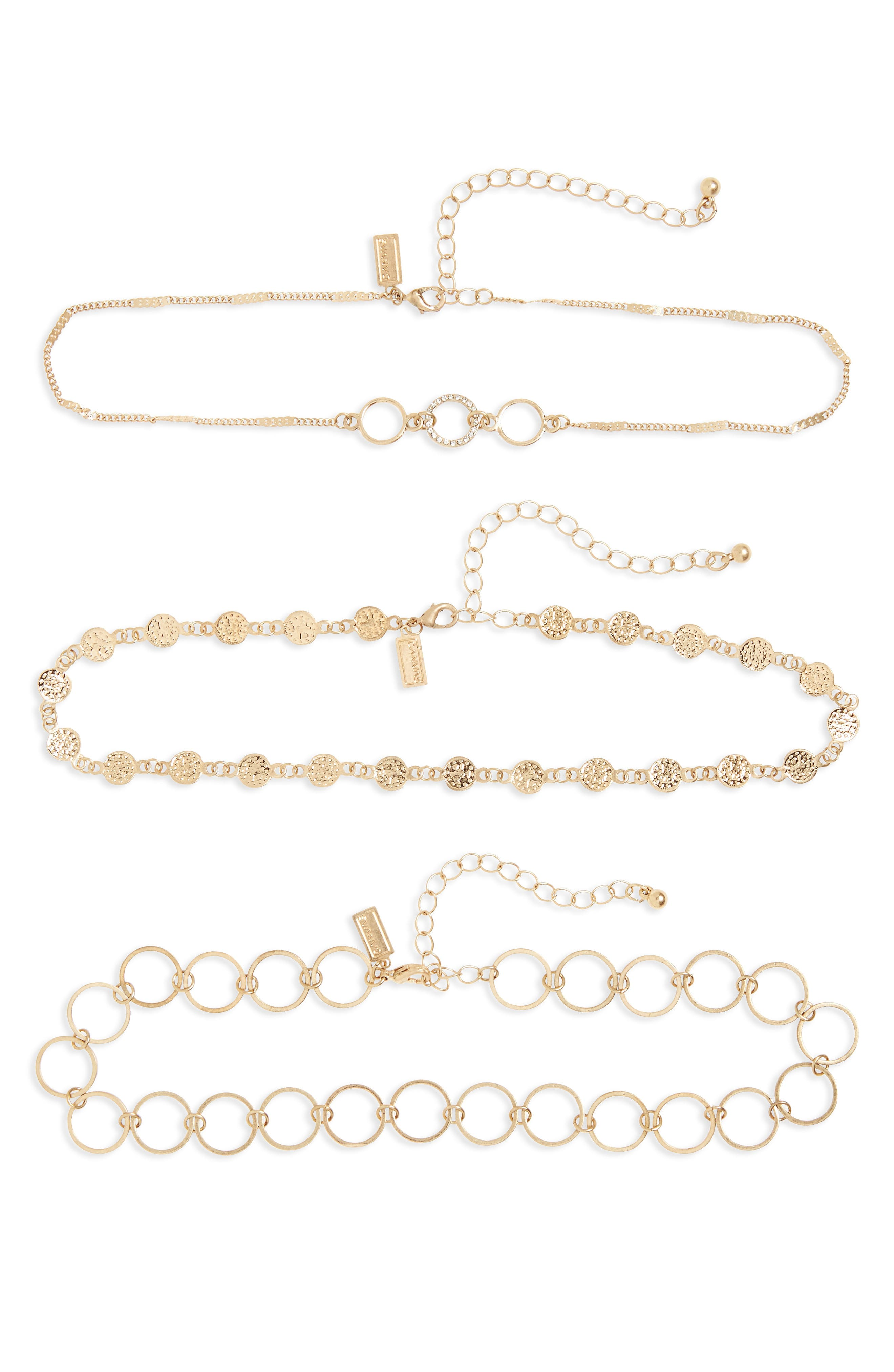 Canvas Jewelry Set of 3 Chokers