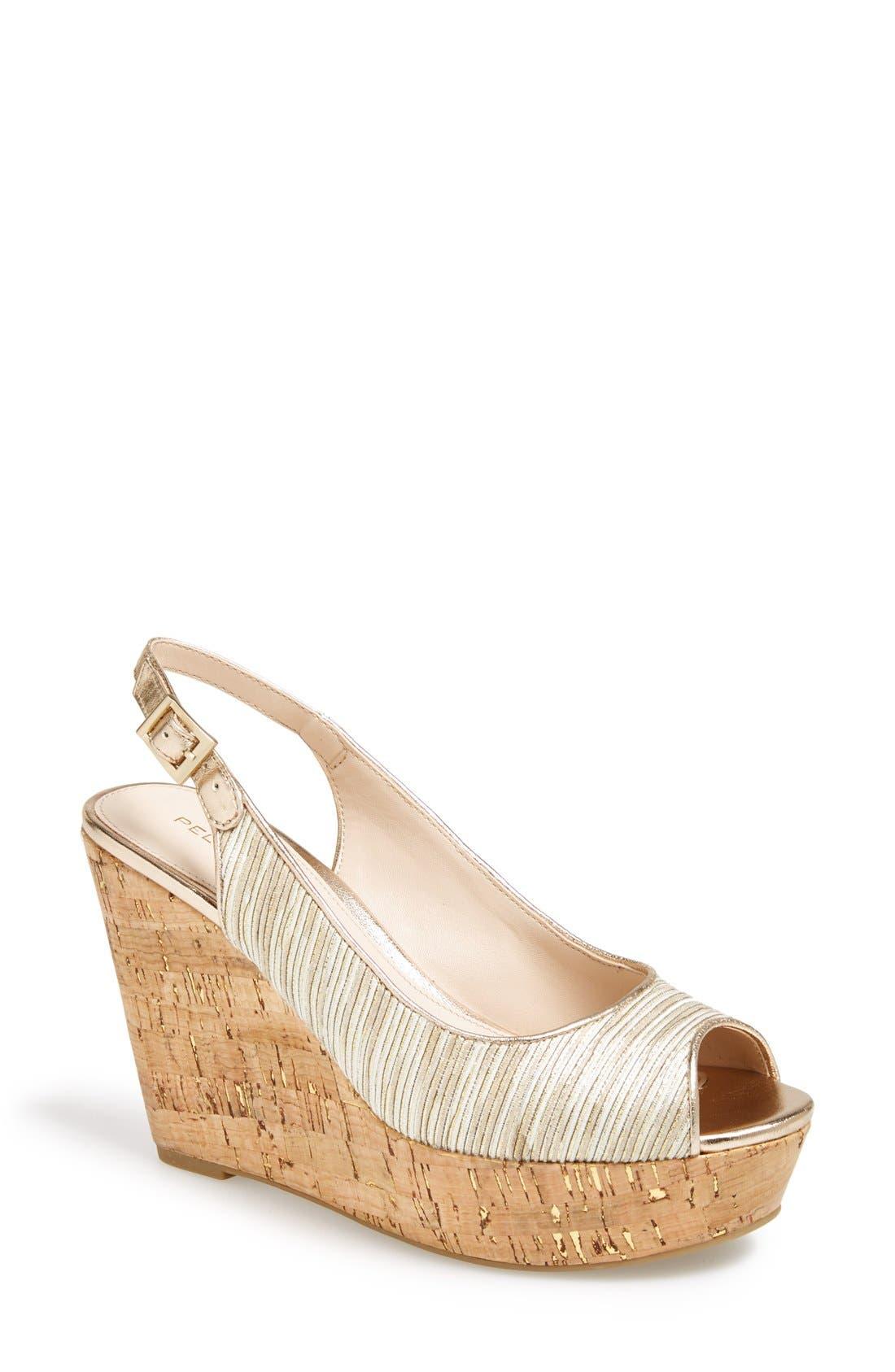 Alternate Image 1 Selected - Pelle Moda 'Colby' Slingback Wedge Sandal (Women)