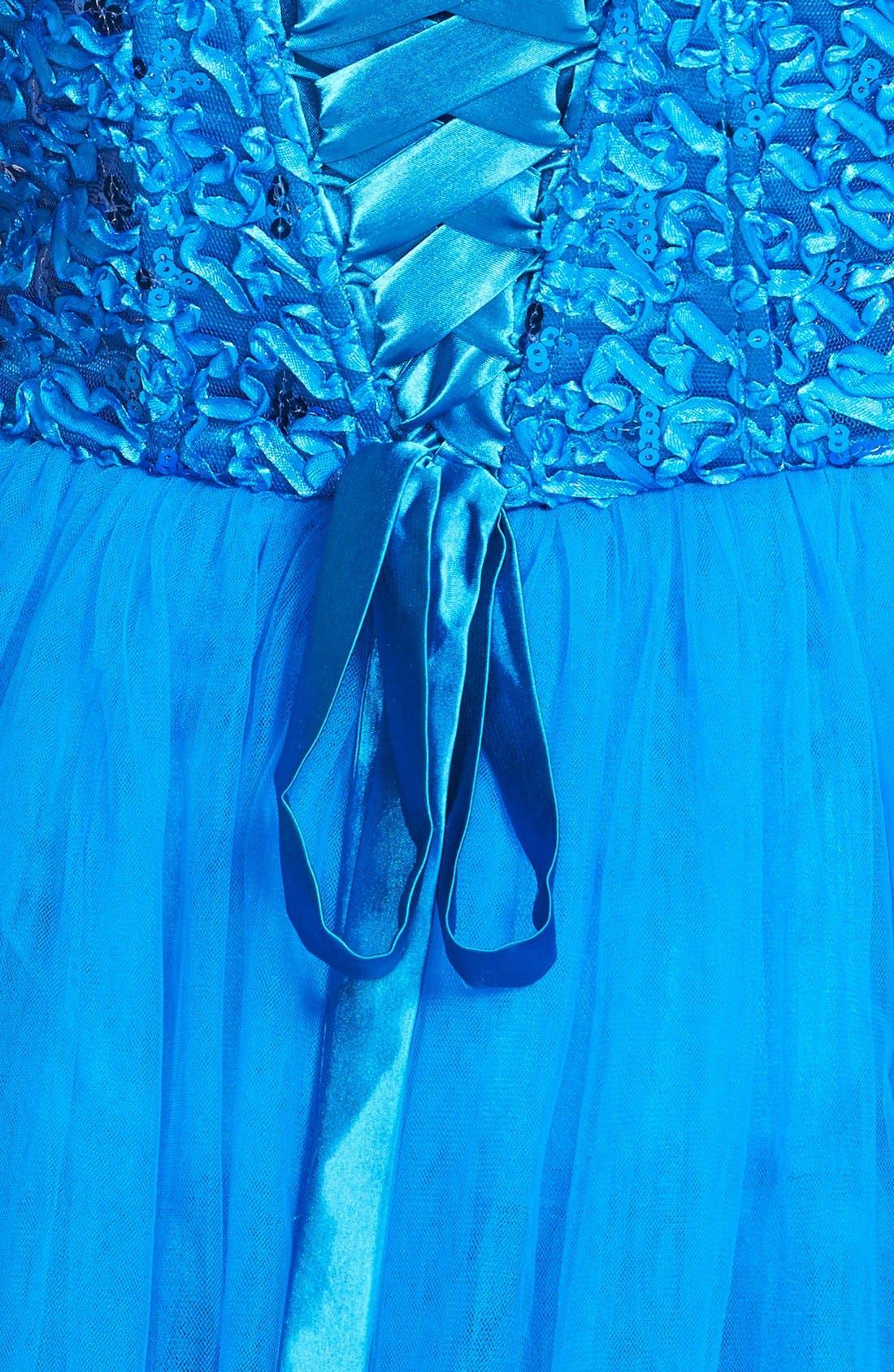 Alternate Image 3  - a. drea Lace-Up Back Party Dress (Juniors)