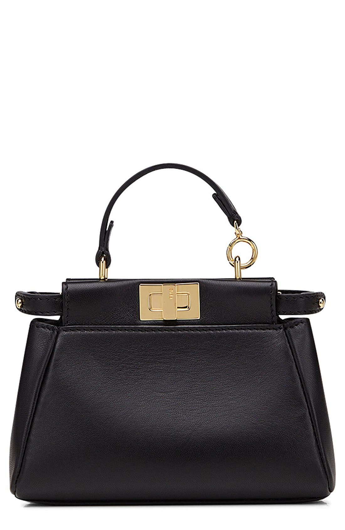Fendi 'Micro Peekaboo' Nappa Leather Bag