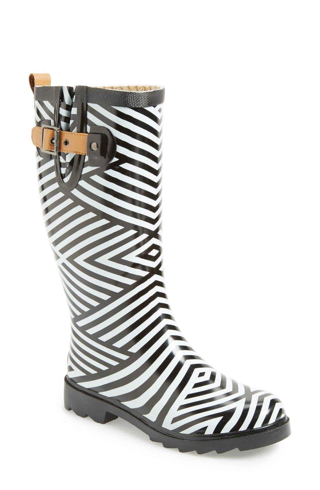 Alternate Image 1 Selected - Chooka Stripe Waterproof Rain Boot (Women)