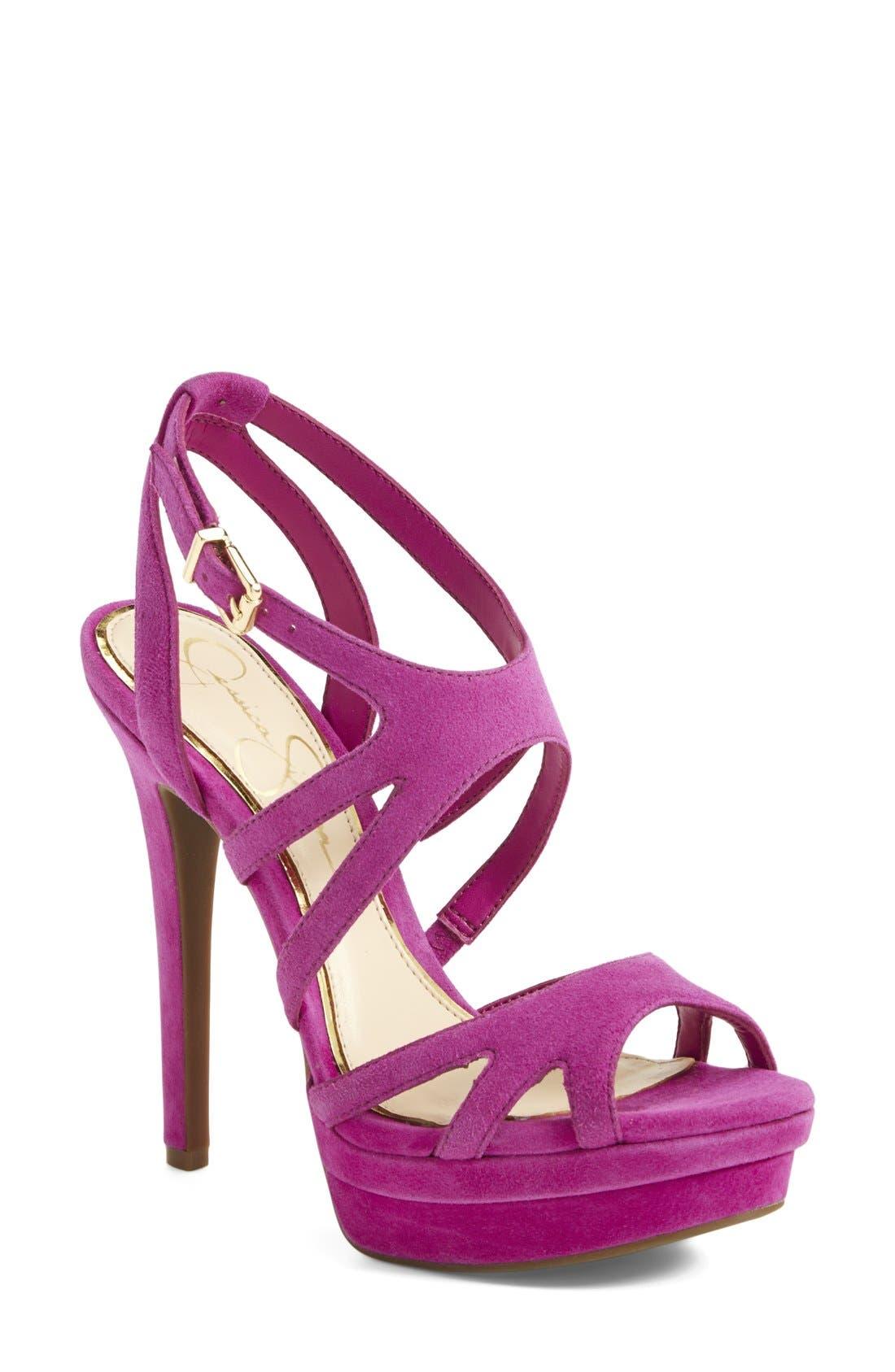 Main Image - Jessica Simpson 'Presslie' Ankle Strap Platform Sandal (Women)