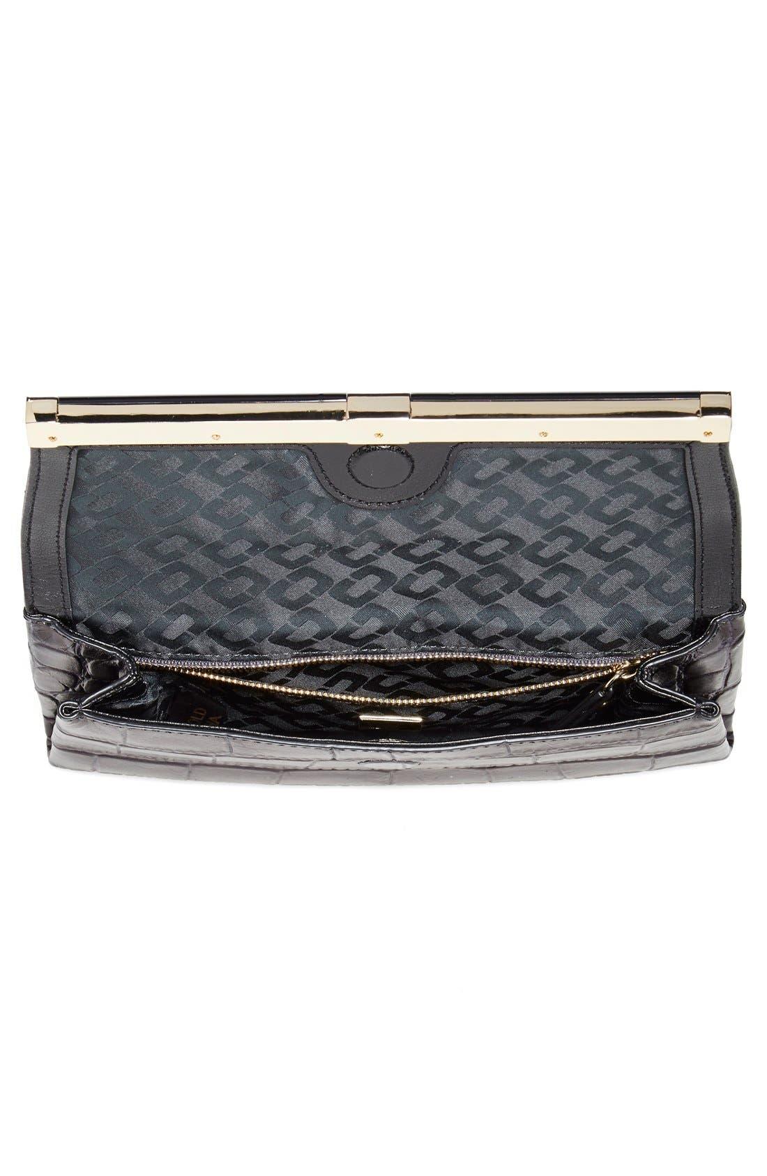 Alternate Image 2  - Diane von Furstenberg '440' Croc-Embossed Leather Envelope Clutch