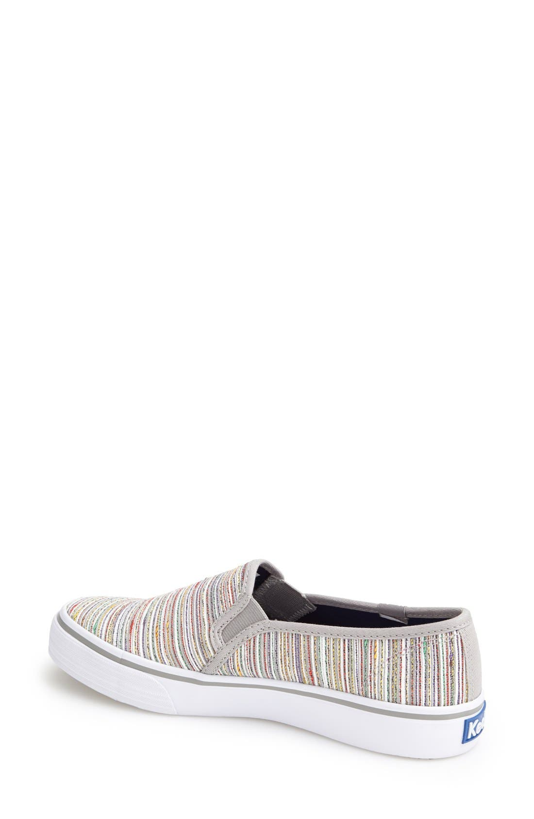 Alternate Image 2  - Keds® 'Double Decker - Woven Stripe' Slip-On Sneaker (Women)