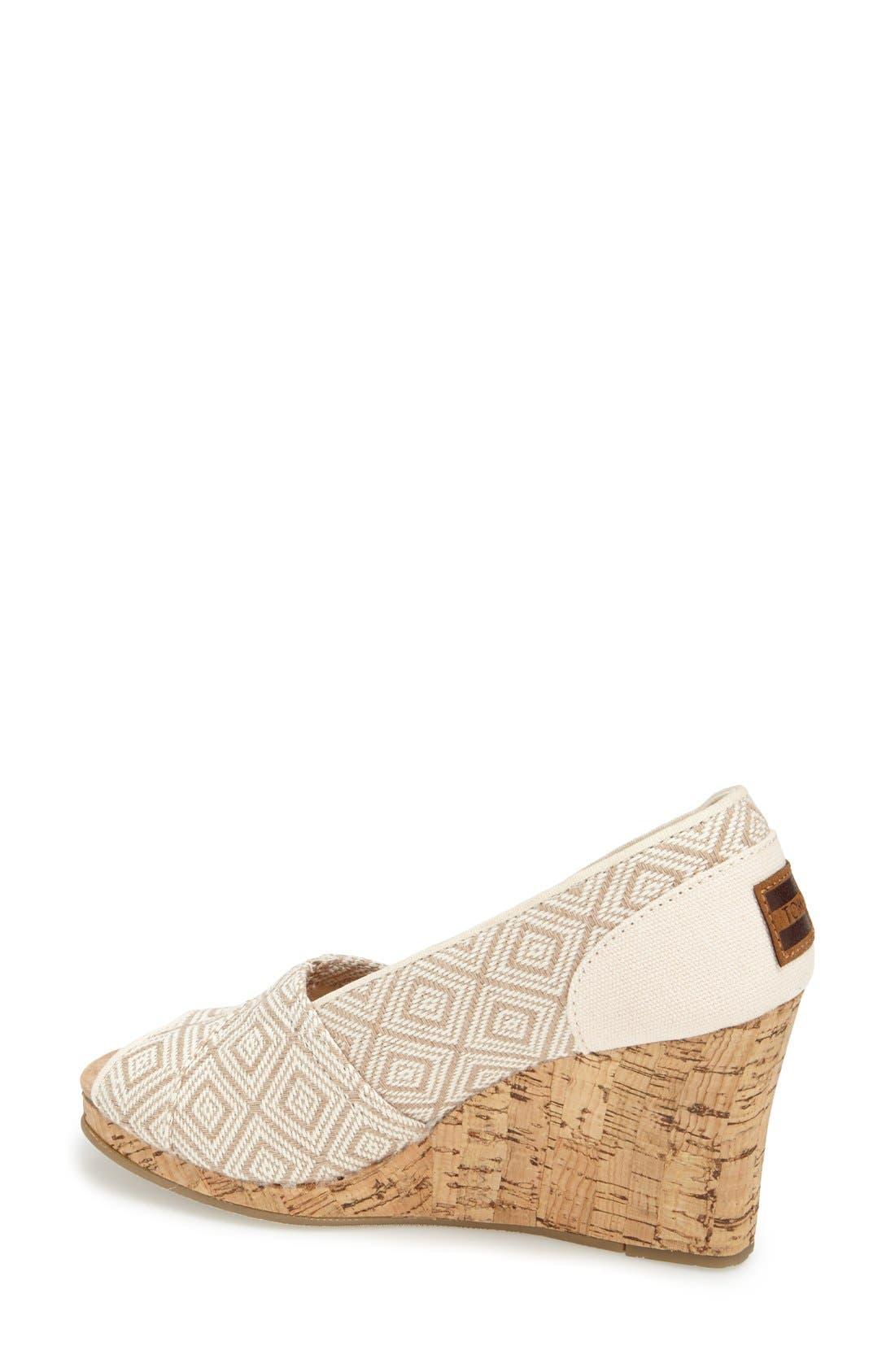 Alternate Image 2  - TOMS 'Classic' Woven Wedge Sandal (Women)