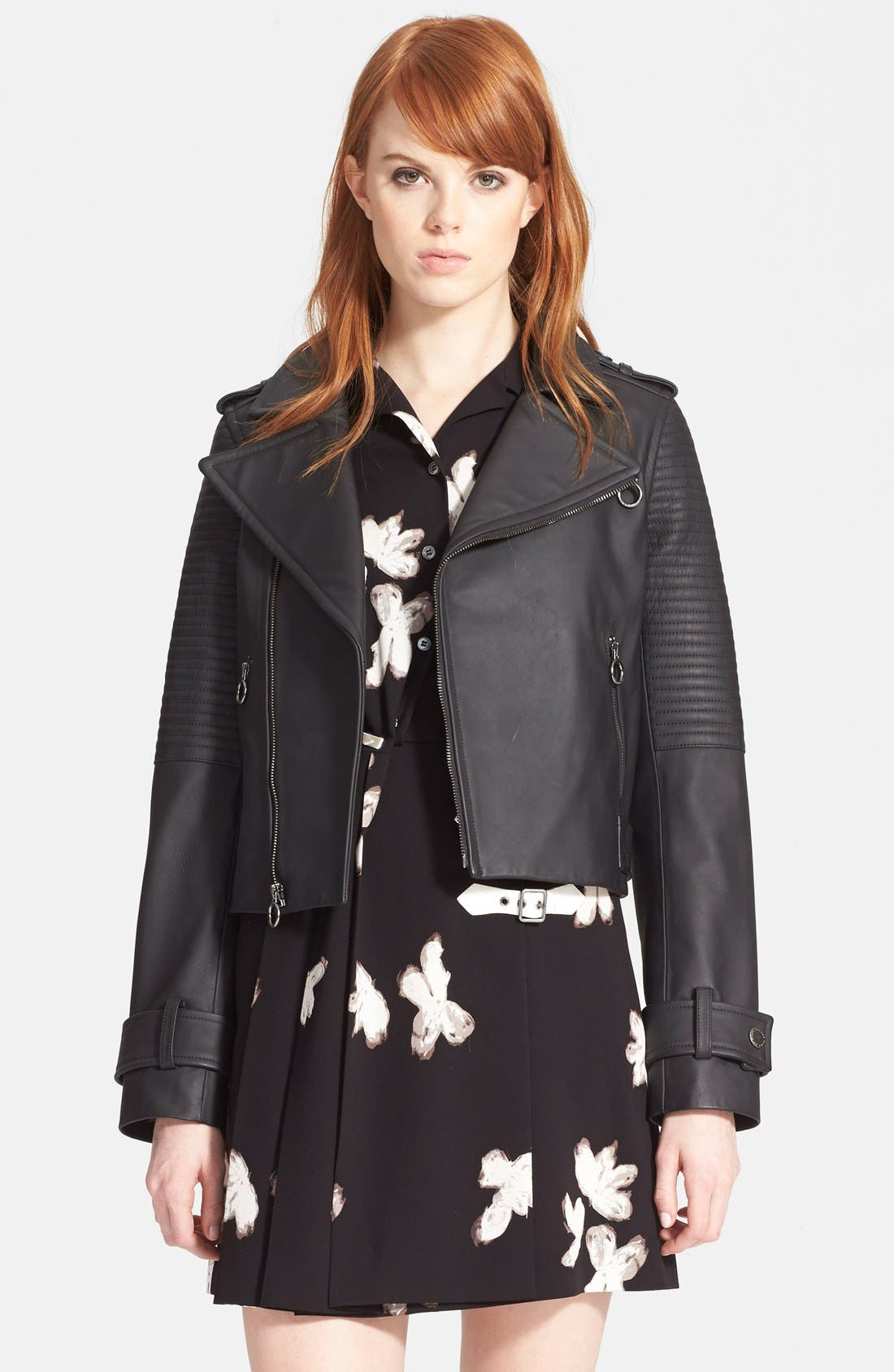 Main Image - MARC BY MARC JACOBS Leather Biker Jacket