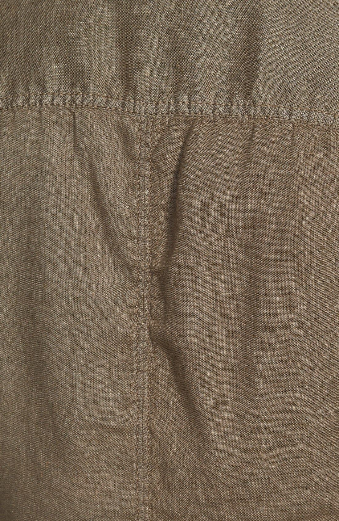 Alternate Image 3  - Caslon® Linen One-Button Blazer