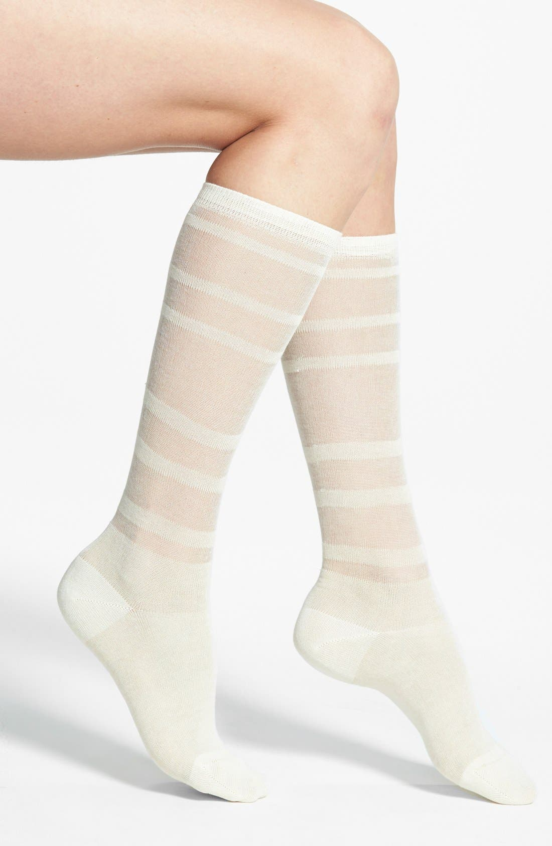 Alternate Image 1 Selected - Oroblu 'Calzino Nellie' Sheer Stripe Trouser Socks