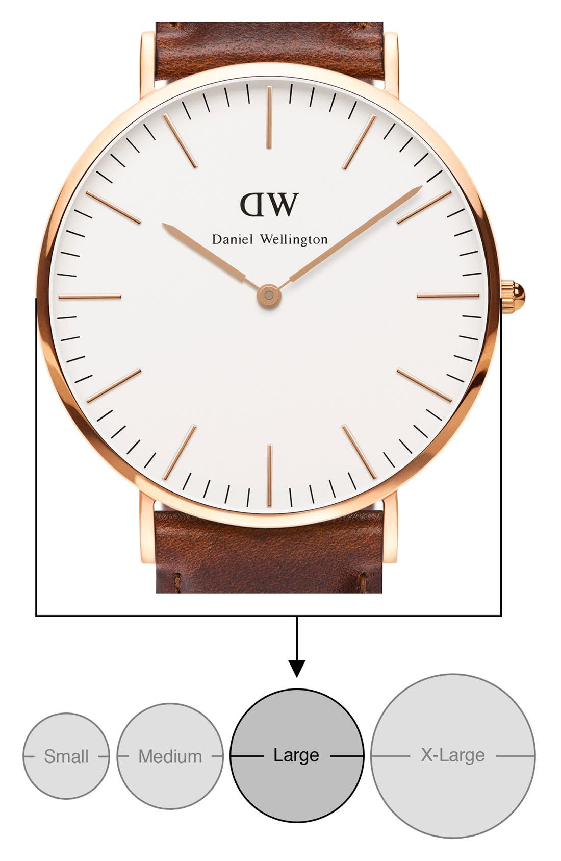 Alternate Image 2  - Daniel Wellington 'Classic St. Mawes' Leather Strap Watch, 40mm
