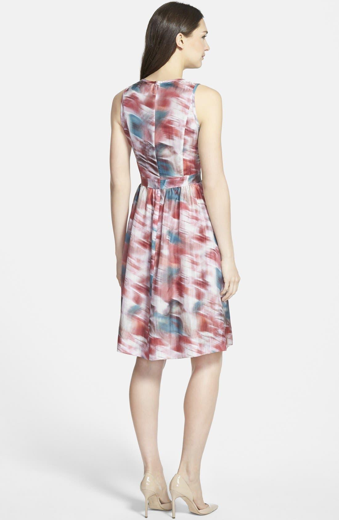 Alternate Image 2  - Classiques Entier® Print Silk Habotai Fit & Flare Dress