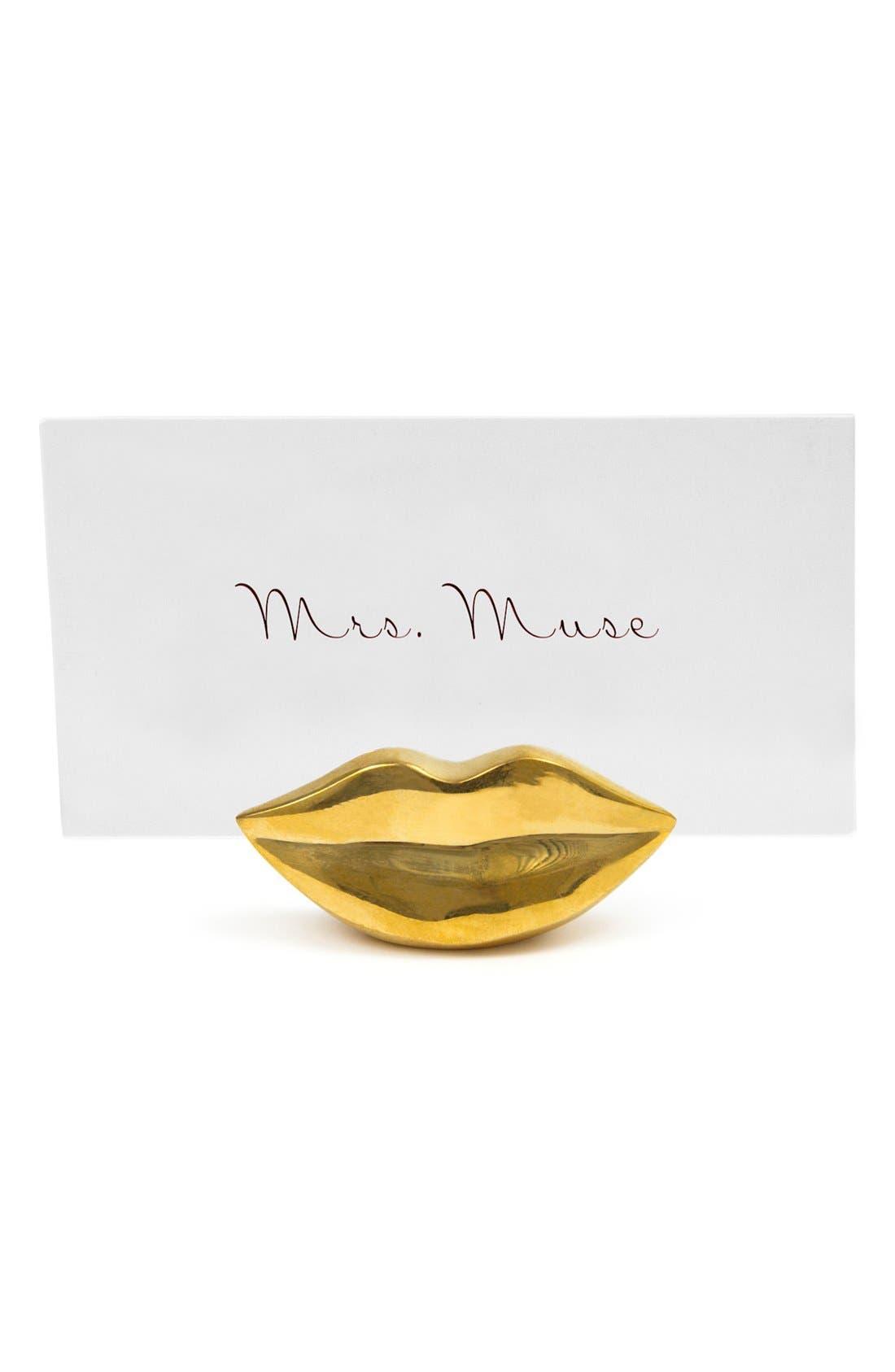 Alternate Image 2  - Jonathan Adler 'Mr. & Mrs. Muse' Brass Place Card Holders (Set of 4)