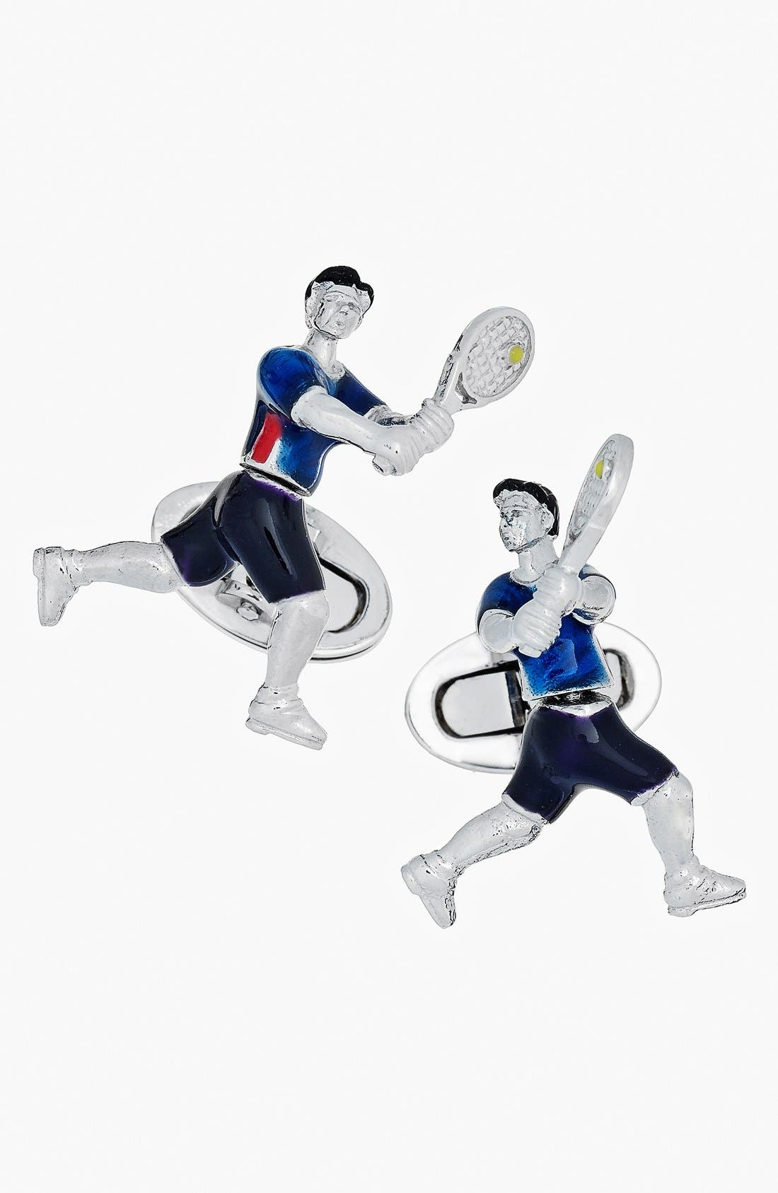 JAN LESLIE Tennis Player Cuff Links