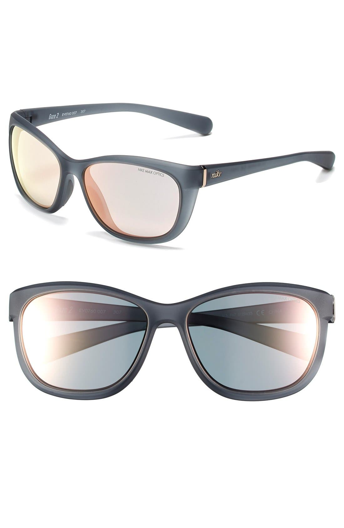Alternate Image 1 Selected - Nike 'Gaze 2' 58mm Performance Sunglasses