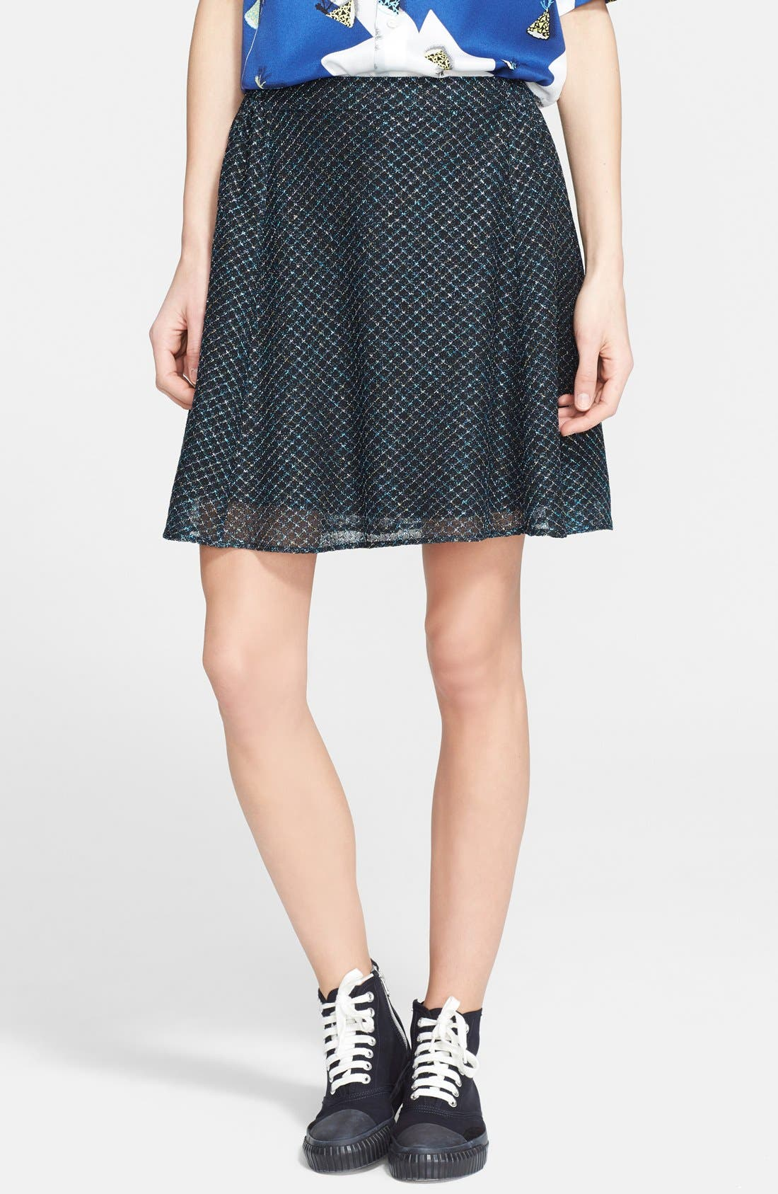 Main Image - Julien David Lamé Lace Skirt