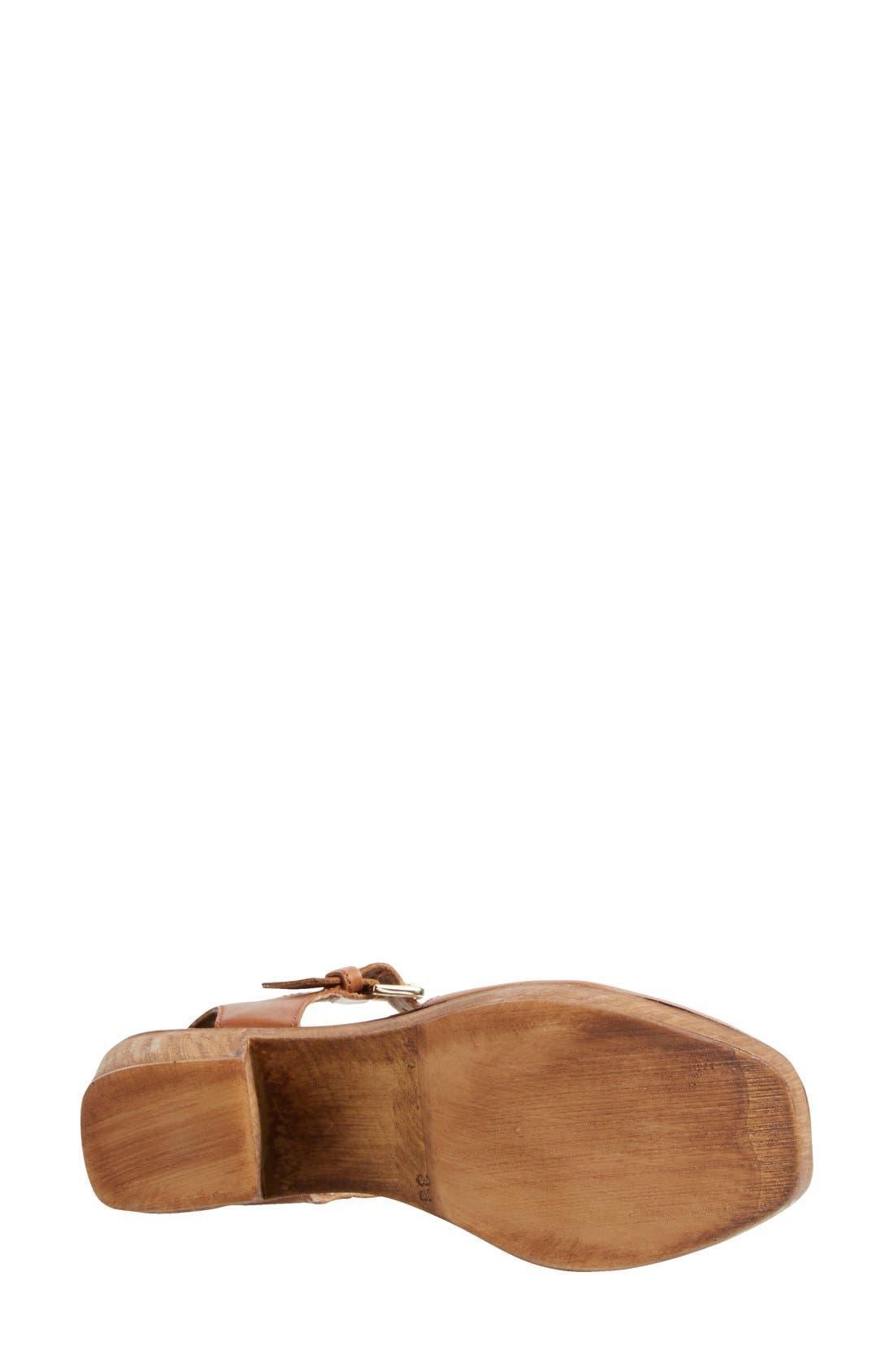 Alternate Image 2  - Topshop 'Smile' Wooden Platform Leather Sandal (Women)