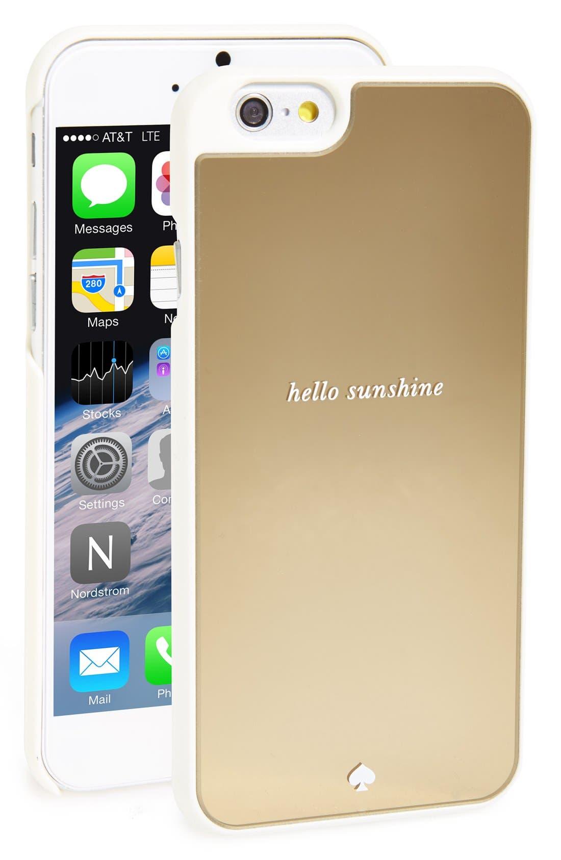 Alternate Image 1 Selected - kate spade new york 'hello sunshine' iPhone 6 & 6s case
