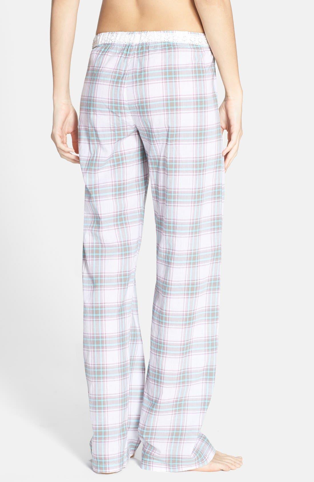 Alternate Image 2  - PJ Salvage Plaid Cotton Voile Pajama Pants