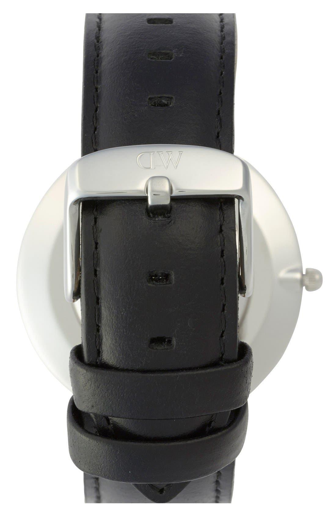 Alternate Image 3  - Daniel Wellington 'Classic Sheffield' Leather Strap Watch, 36mm