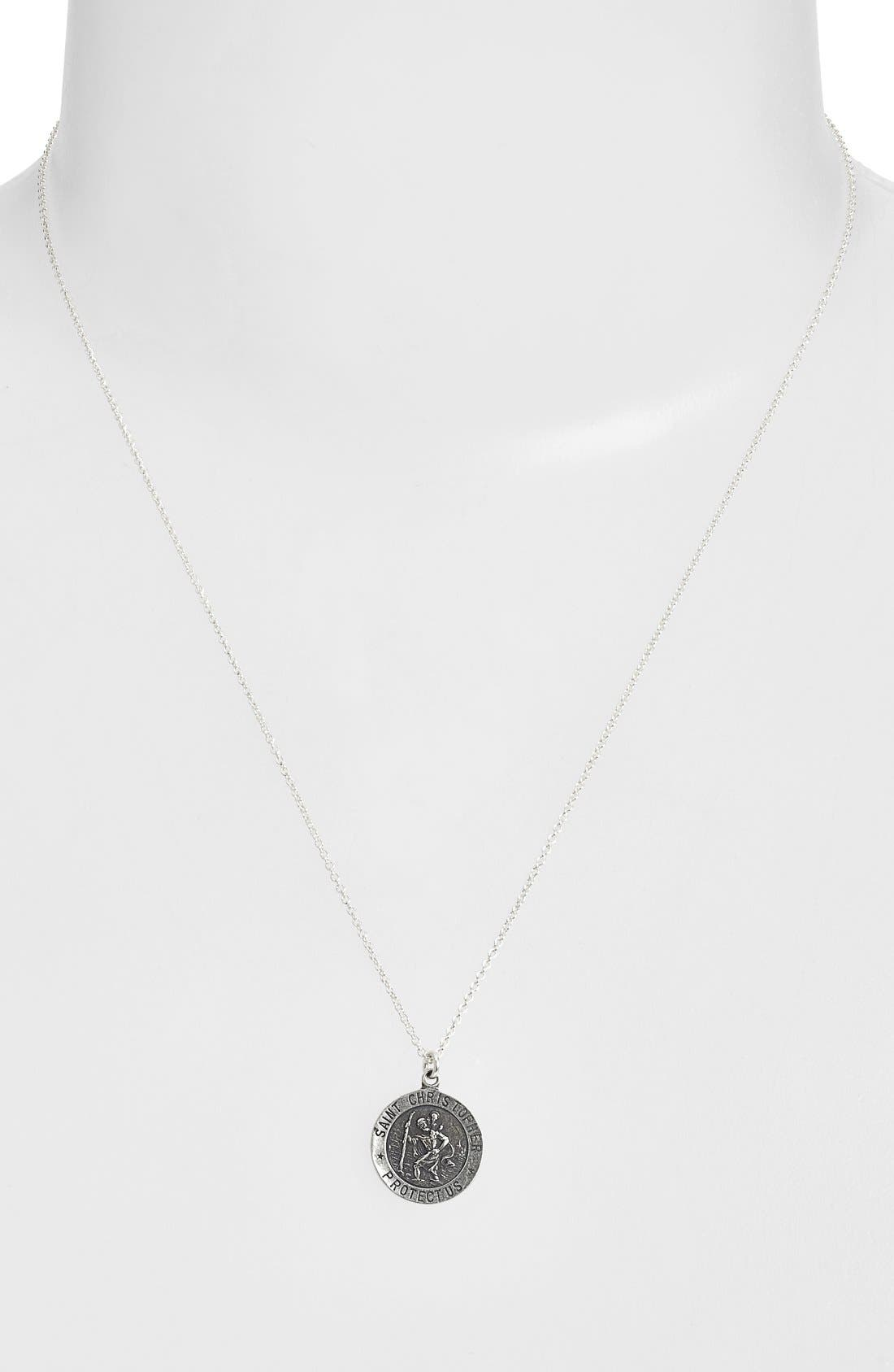 Alternate Image 2  - Dogeared 'St. Christopher' Pendant Necklace
