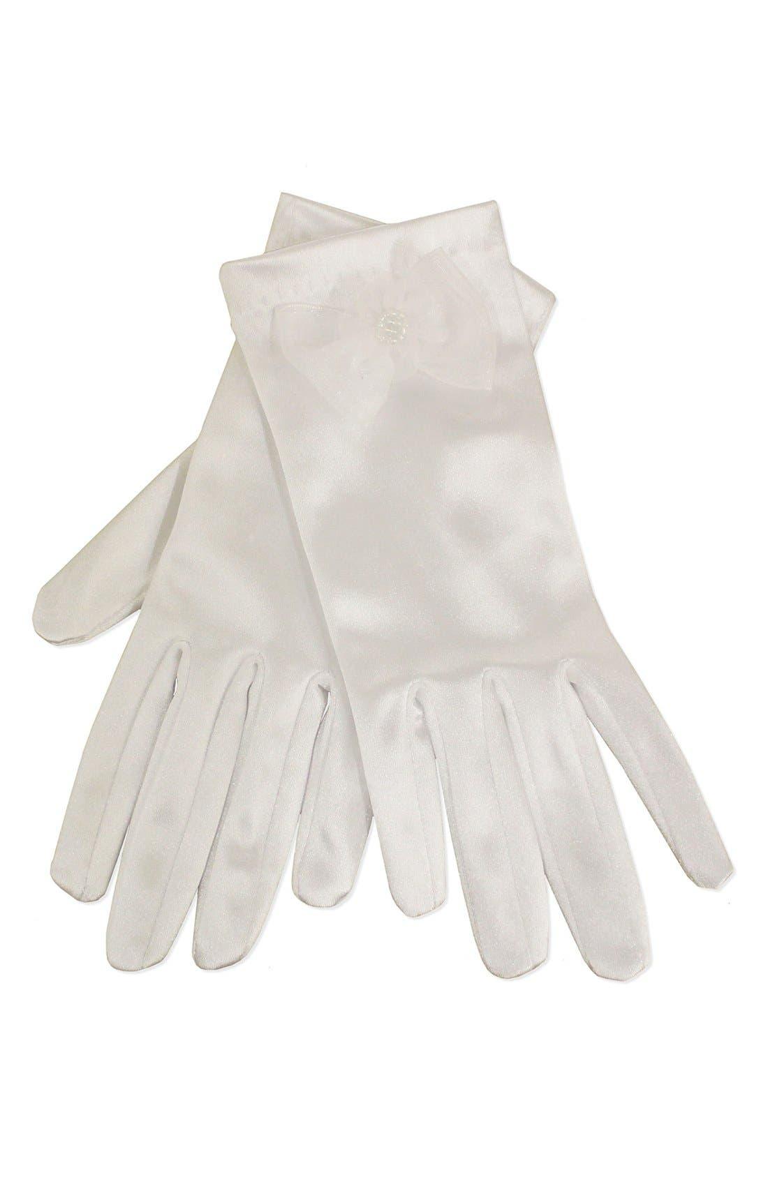 Sorbet Stretch Satin Gloves (Girls)