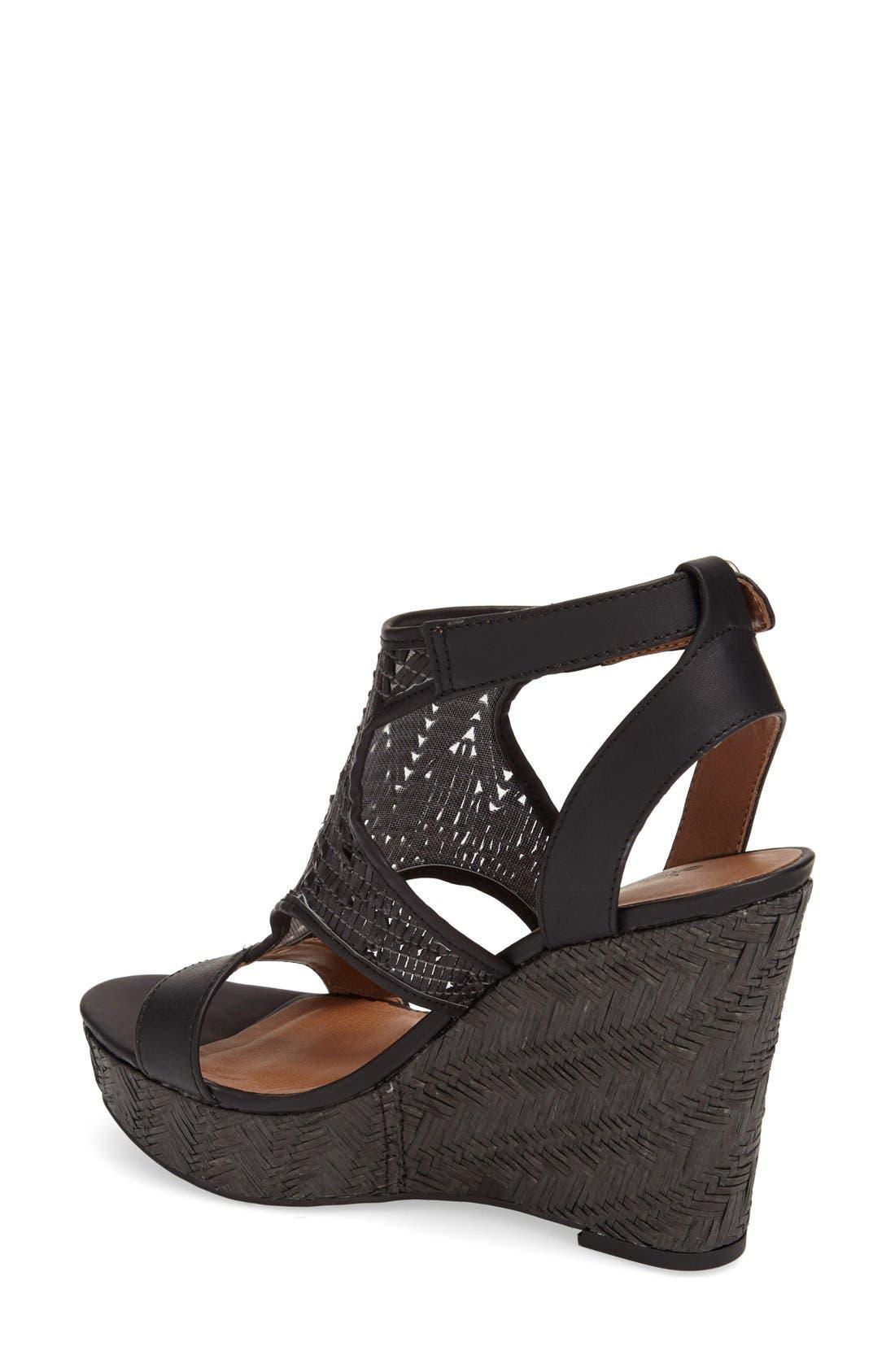 Alternate Image 2  - Lucky Brand 'Laffertie' T-Strap Wedge Sandal (Women)