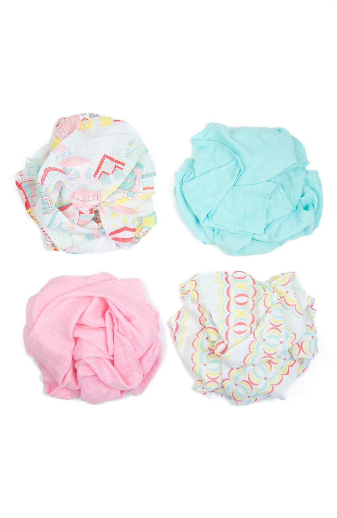 Main Image - The Little Linen Company 'Weegoamigo' Muslin Swaddle Blanket (4-Pack)