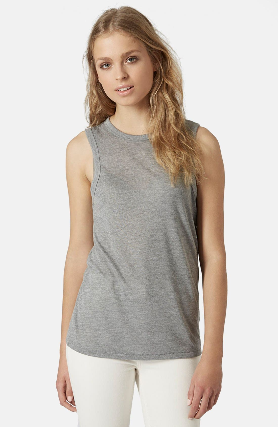 Alternate Image 1 Selected - Topshop High Neck Tank