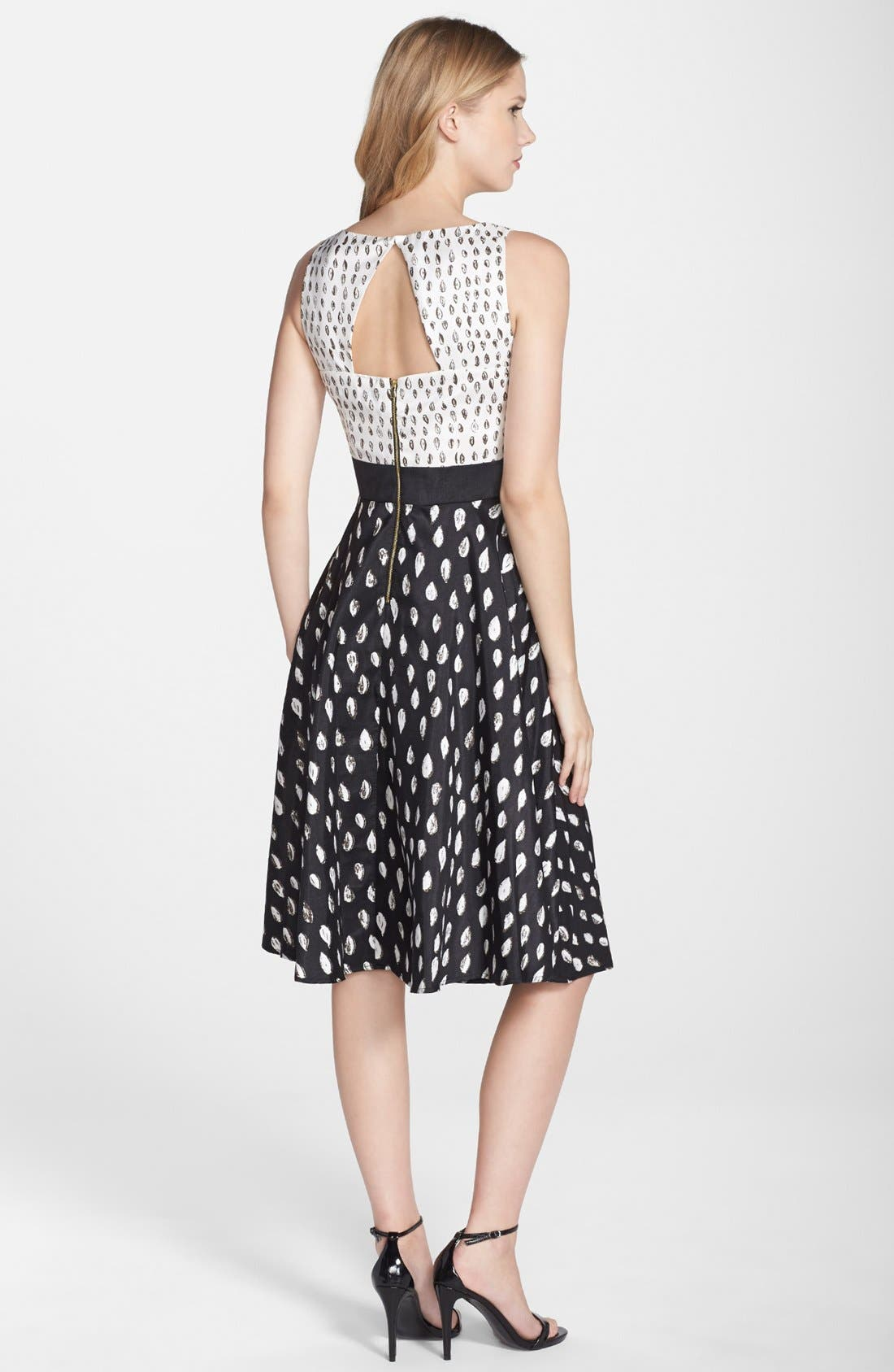 Alternate Image 2  - Gabby Skye Print Shantung Fit & Flare Dress