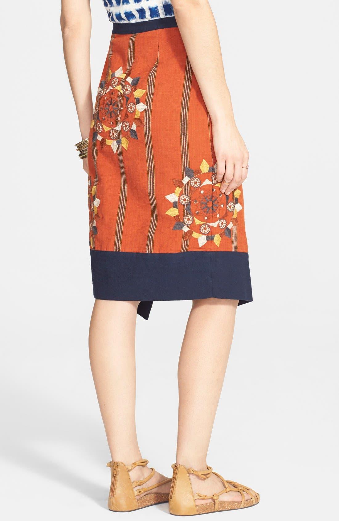 Alternate Image 2  - Free People 'Song Bird' Asymmetrical Wrap Skirt