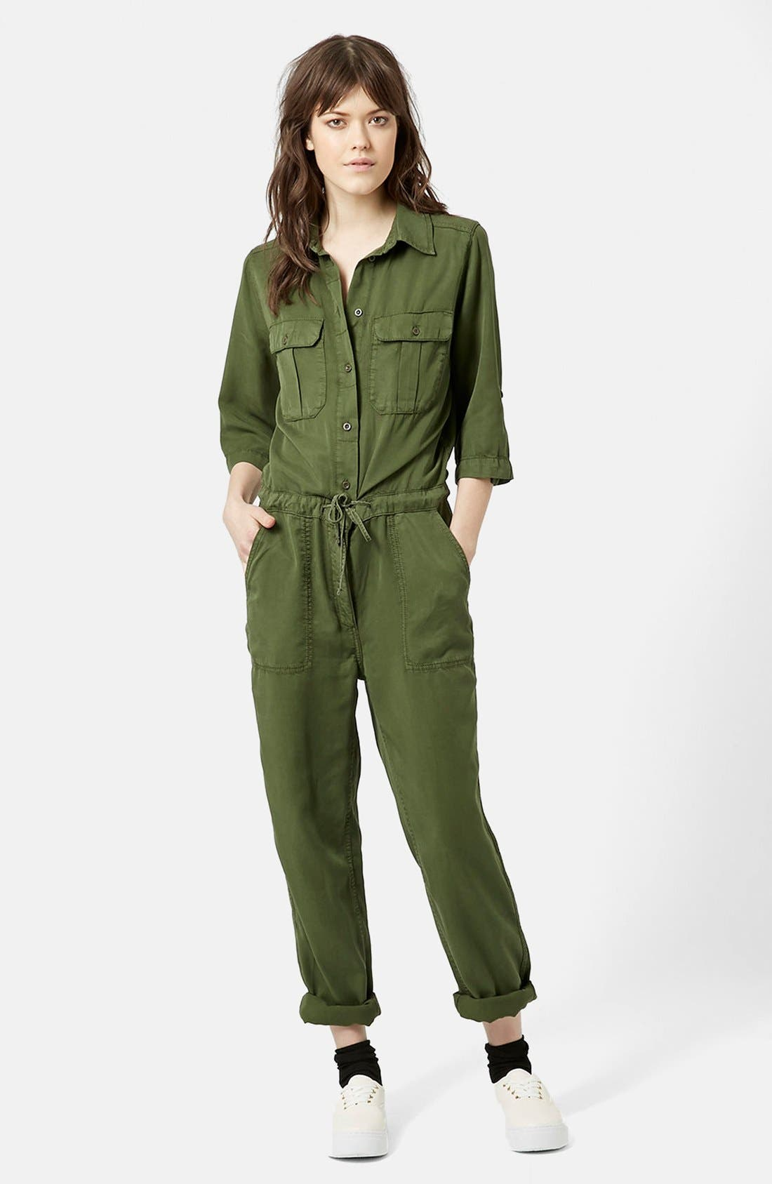 Alternate Image 1 Selected - Topshop 'All in One' Utility Jumpsuit