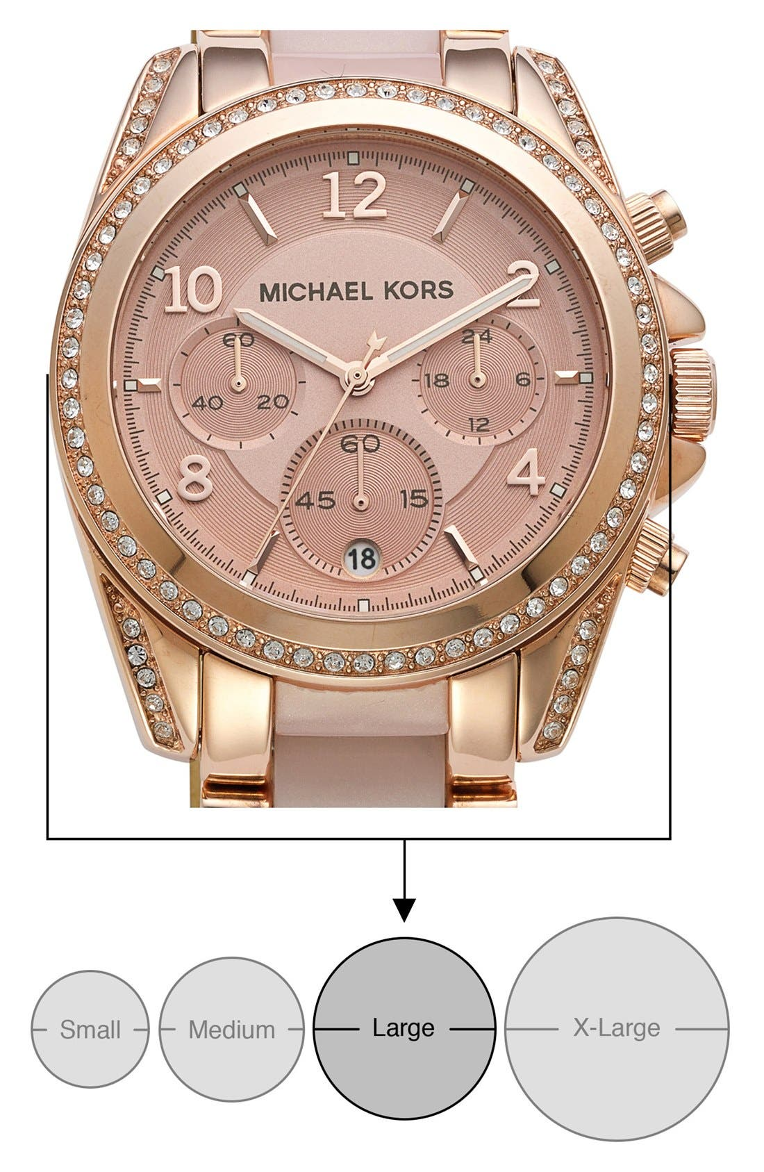 Alternate Image 5  - Michael Kors 'Blair' Crystal Bezel Two-Tone Bracelet Watch, 39mm