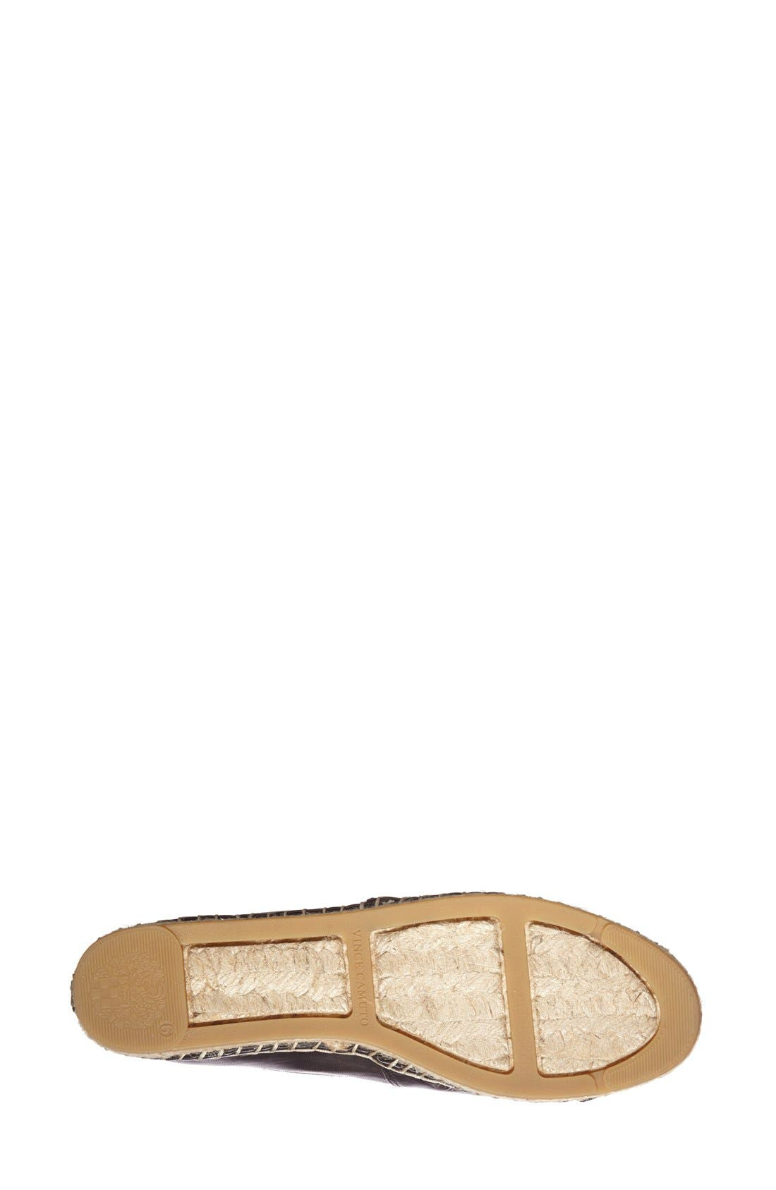 Alternate Image 4  - Vince Camuto 'Dally' Leather Espadrille Flat (Women)