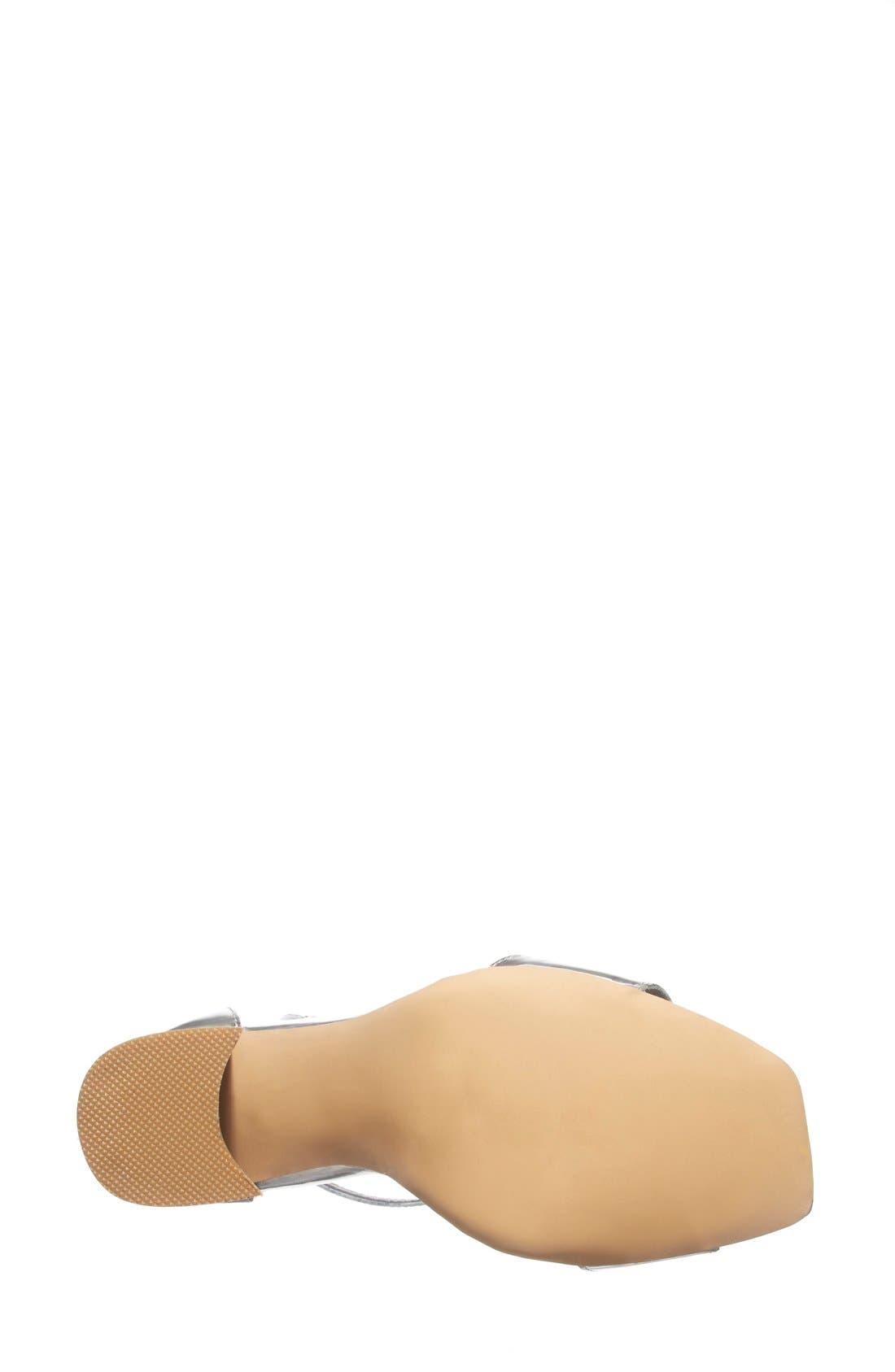 Alternate Image 4  - Jeffrey Campbell 'Manor' Metallic Leather Ankle Strap Sandal (Women)