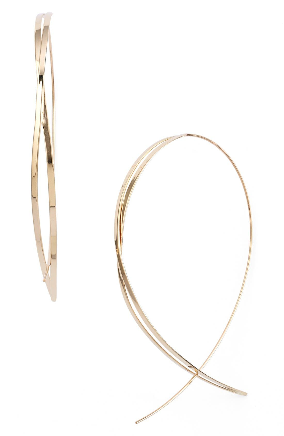 Alternate Image 1 Selected - Lana Jewelry 'Twist Upside Down' Large Hoop Earrings