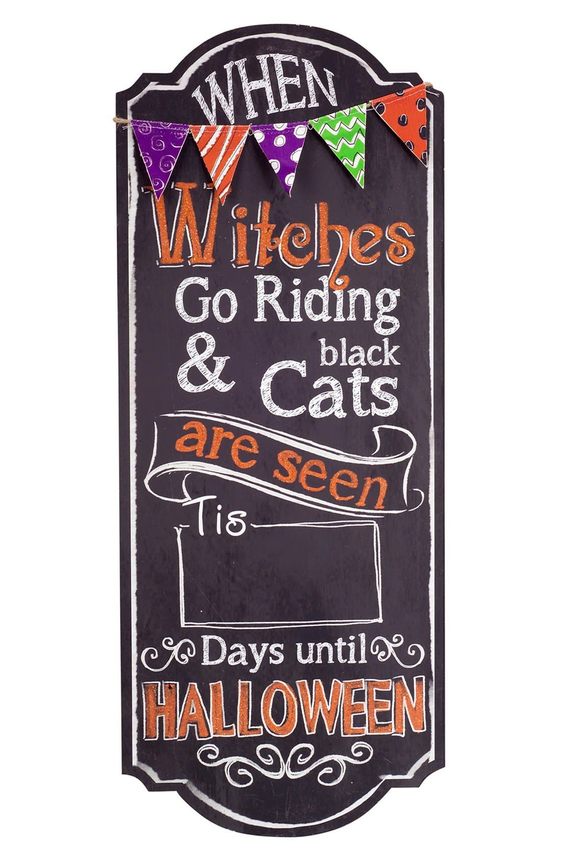 Alternate Image 1 Selected - Melrose Gifts Halloween Countdown Wall Plaque