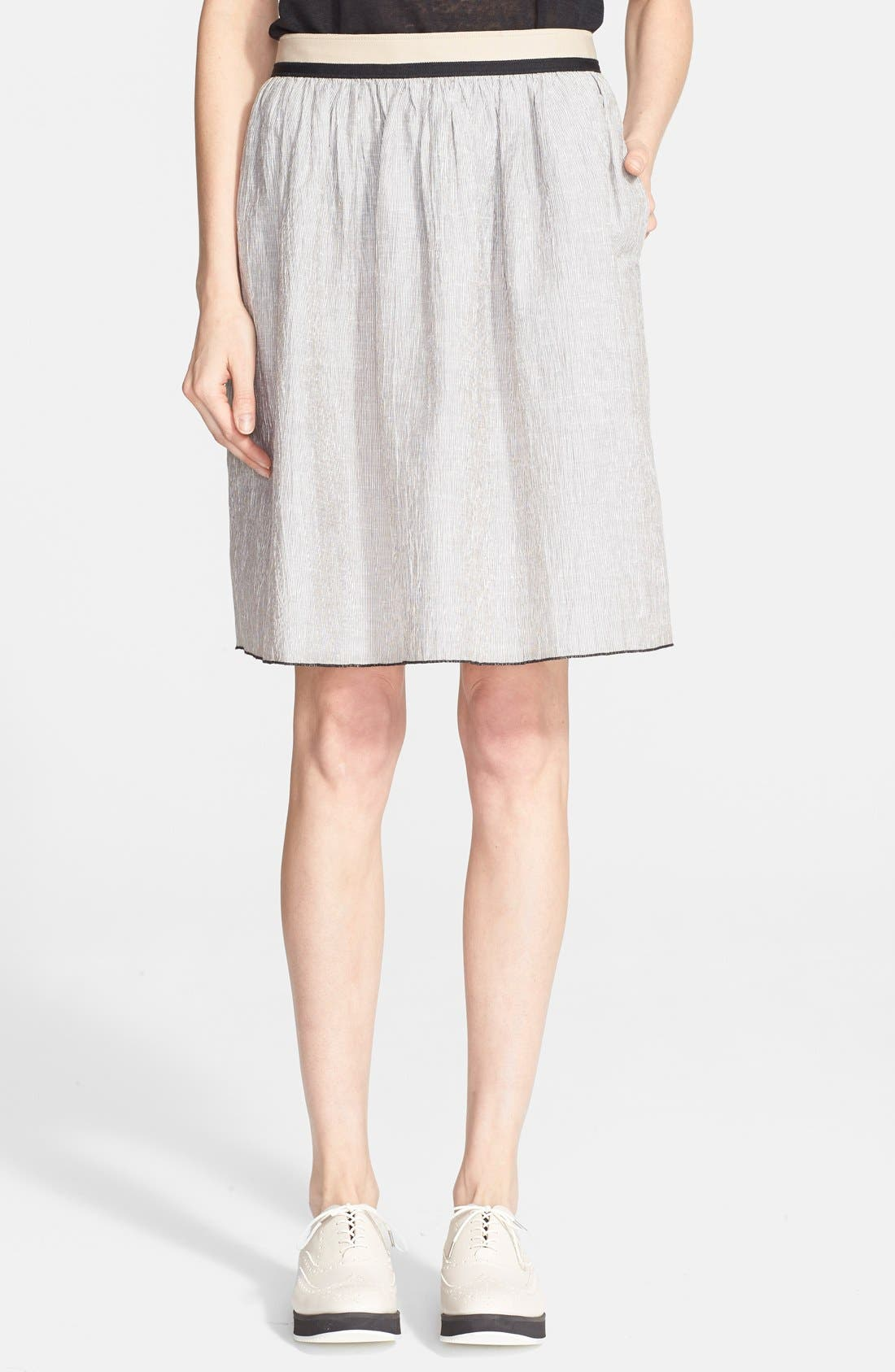 Main Image - rag & bone 'Svea' Linen Blend Full Skirt
