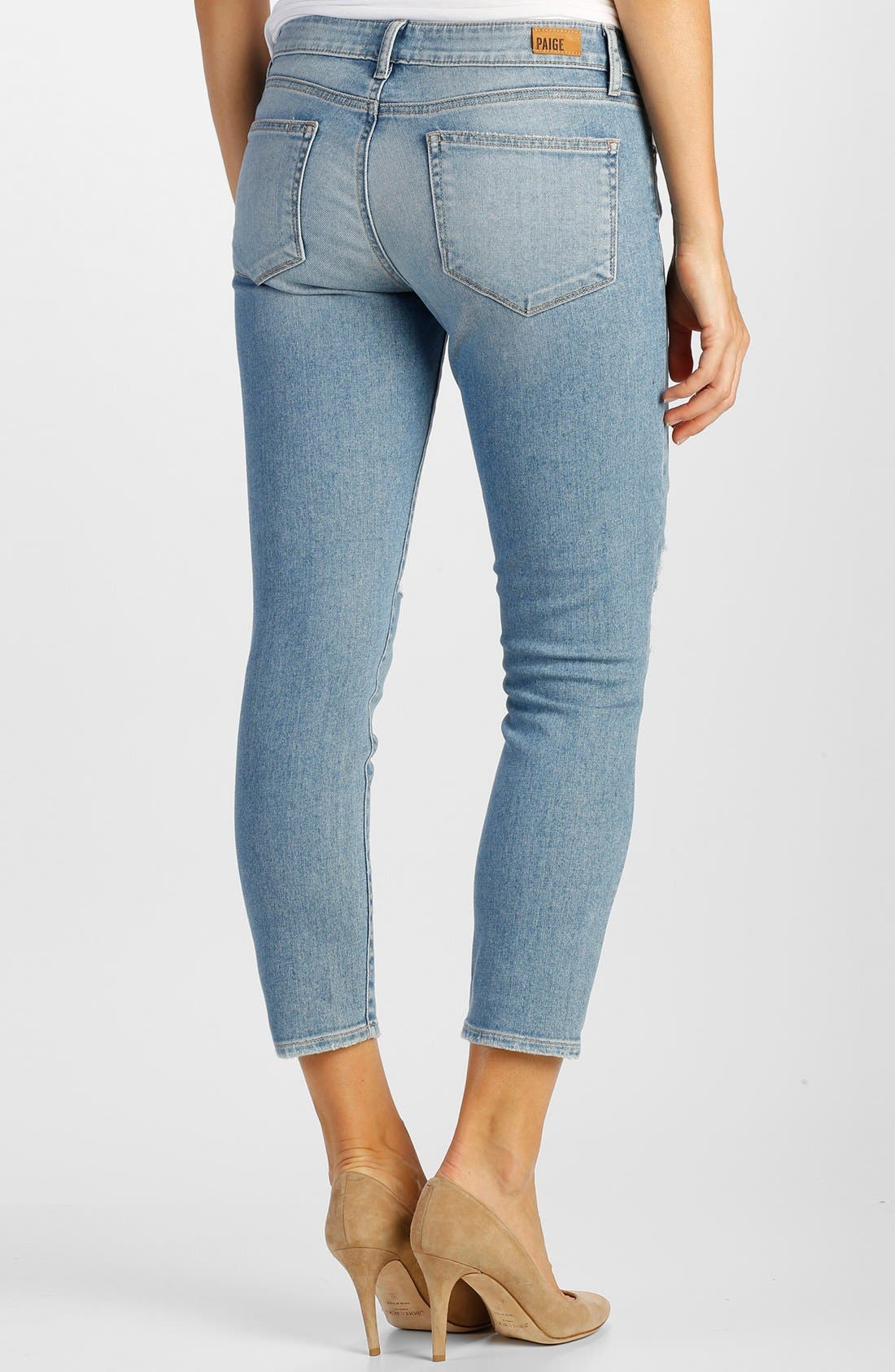 Alternate Image 2  - Paige Denim 'Verdugo' Crop Skinny Jeans (Serena Destructed)