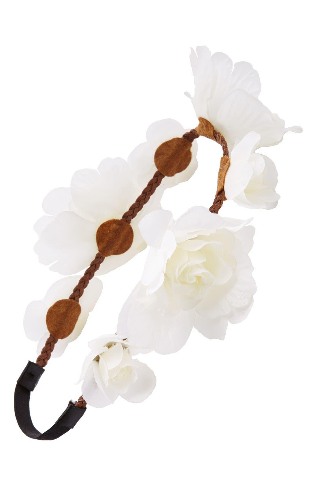 Main Image - BP. Gauzy Floral Crown