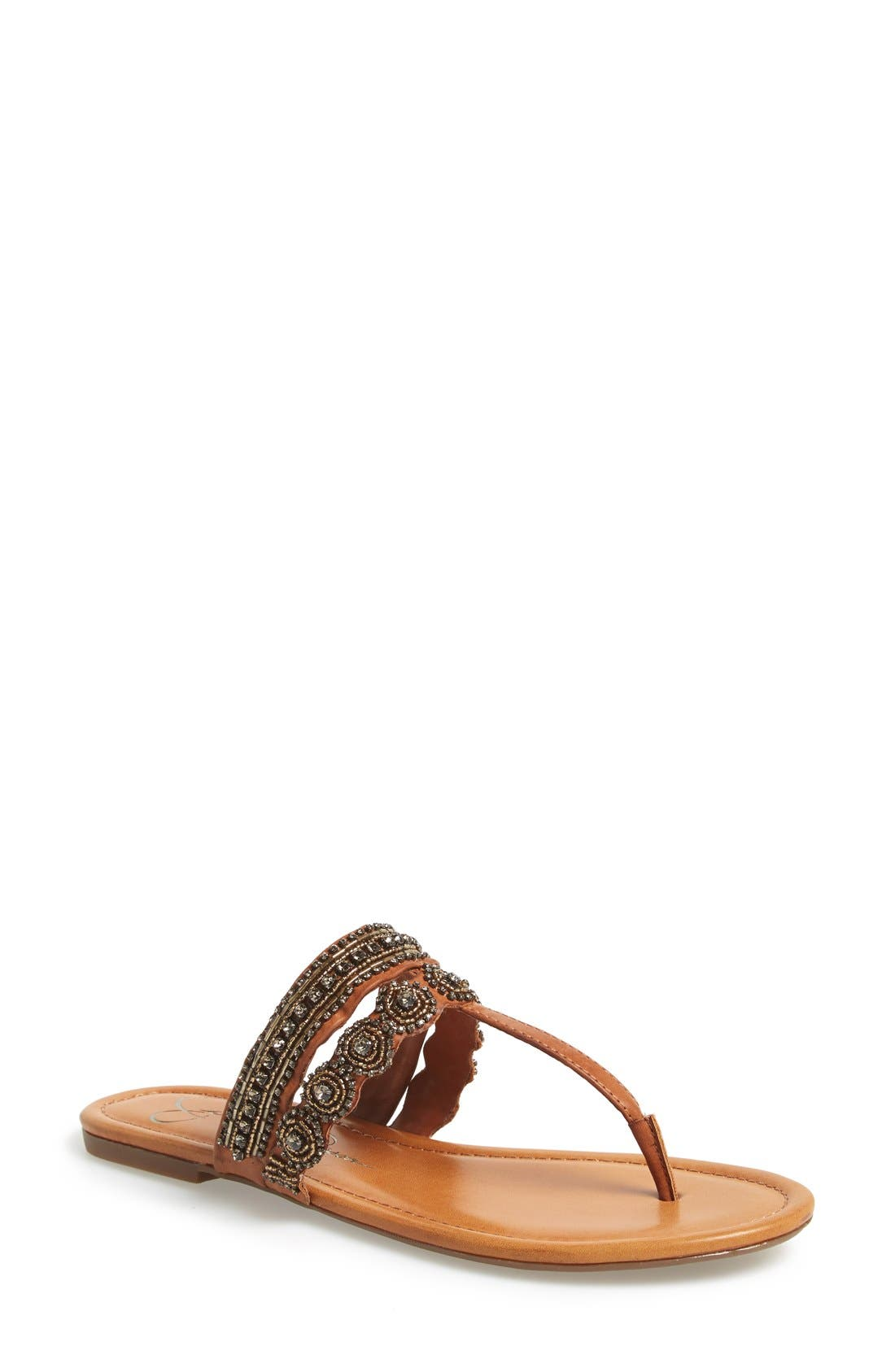 Alternate Image 1 Selected - Jessica Simpson 'Roelle' Embellished Sandal (Women)
