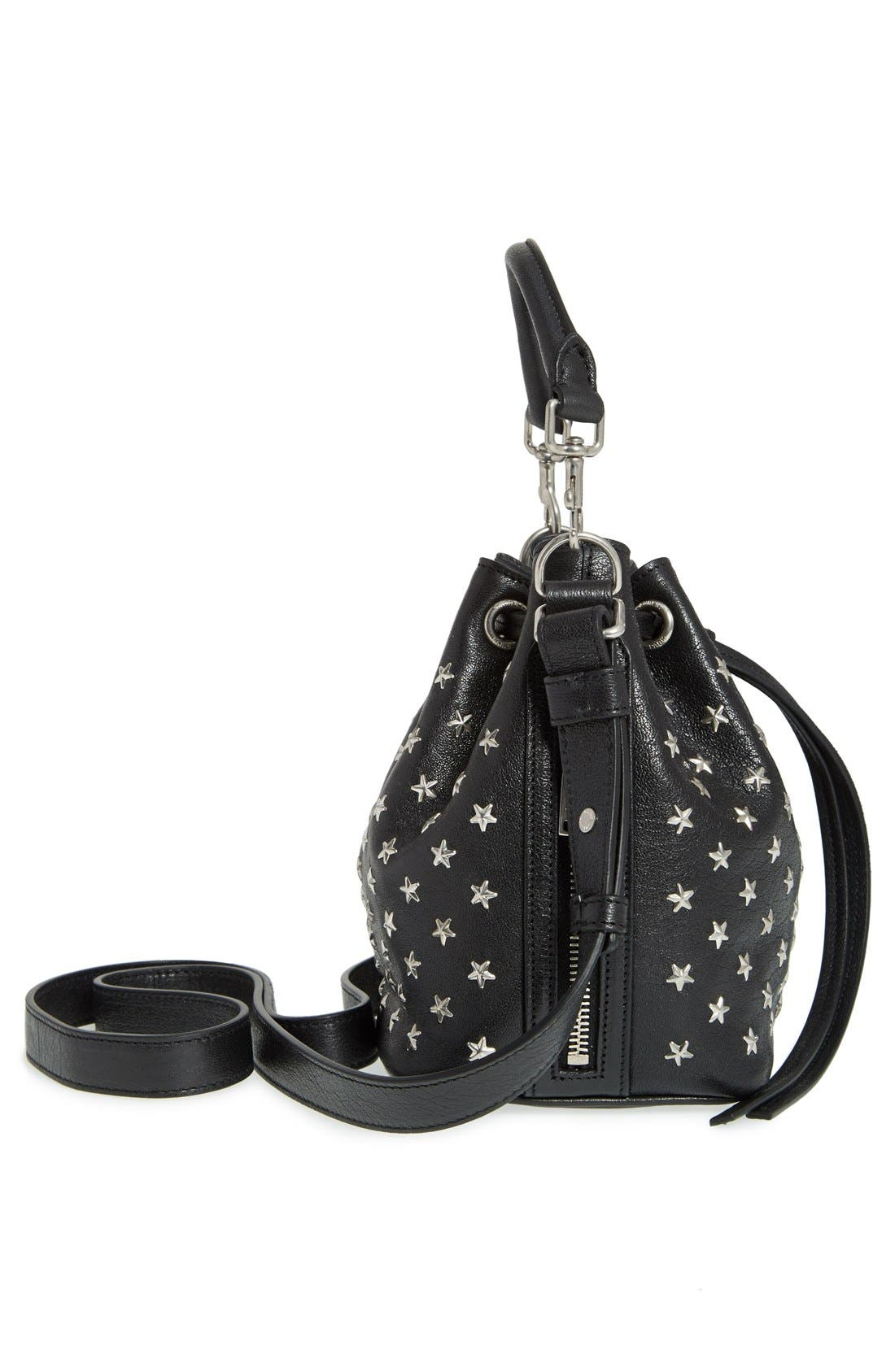 Alternate Image 4  - Saint Laurent Studded Small Leather Bucket Bag